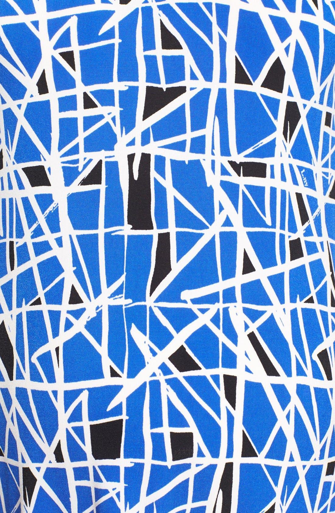 'Olivia' Maternity Dress,                             Alternate thumbnail 5, color,                             COBALT GLASS