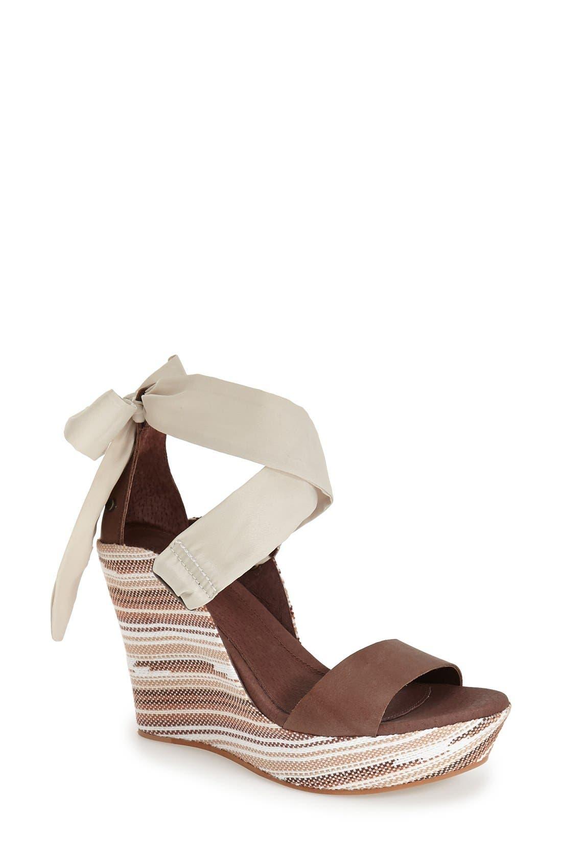 UGG<SUP>®</SUP> 'Jules Serape' Platform Wedge Sandal, Main, color, 201