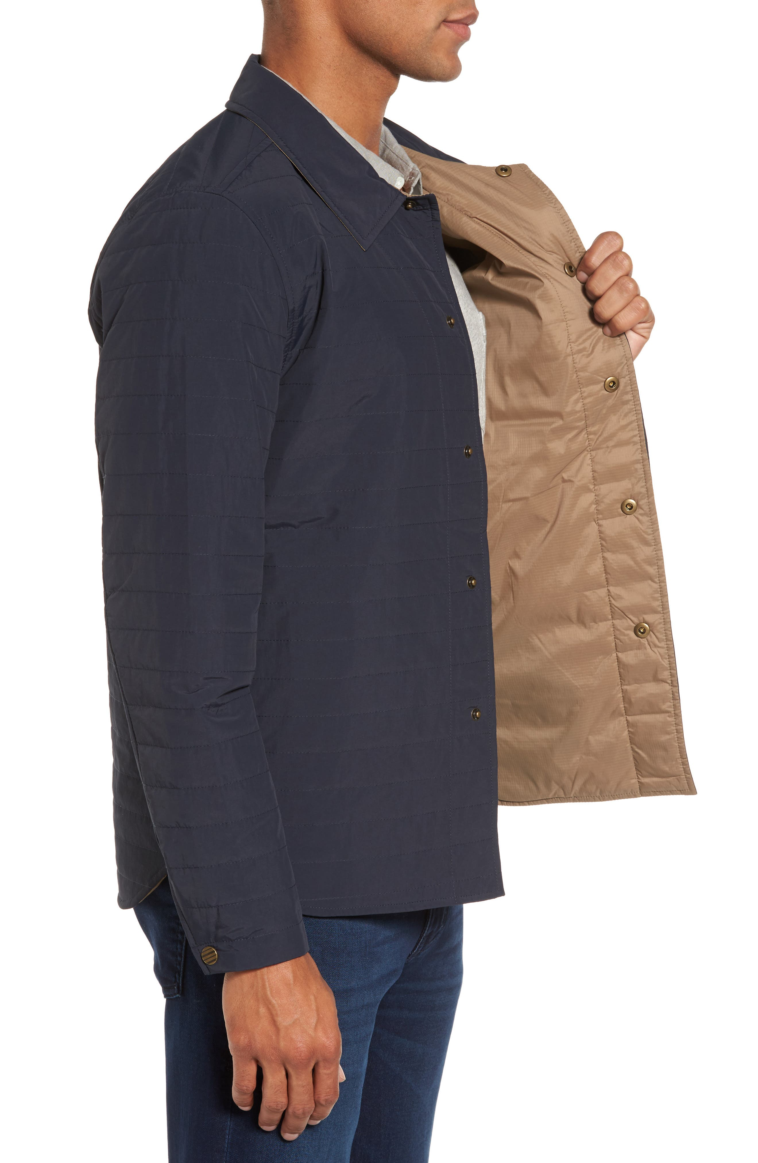 Leroy Quilted Shirt Jacket,                             Alternate thumbnail 3, color,                             410