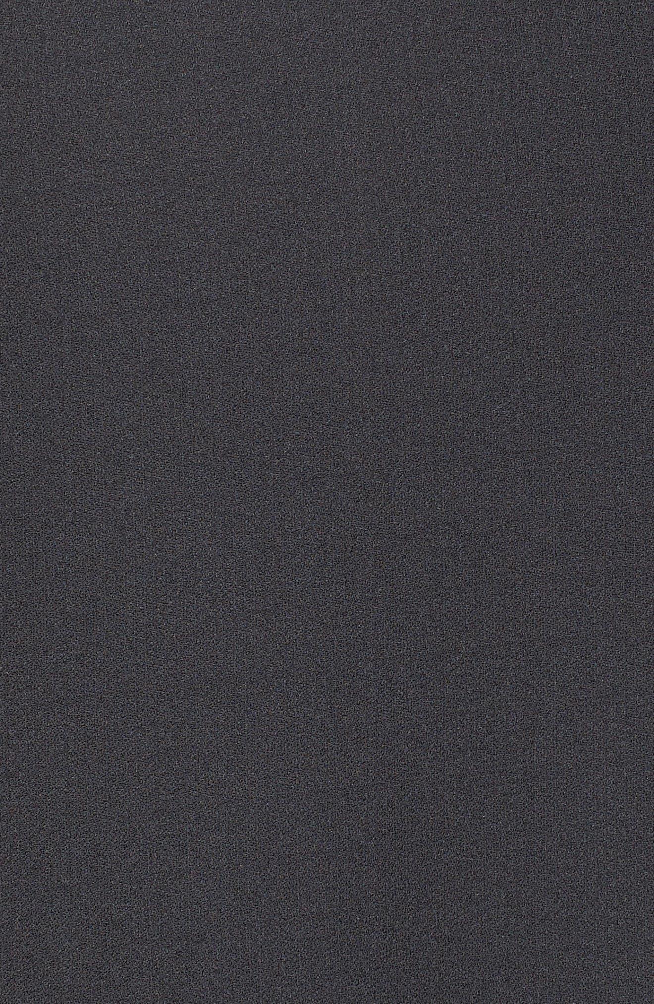 Flare Sleeve Silk Dress,                             Alternate thumbnail 5, color,                             025