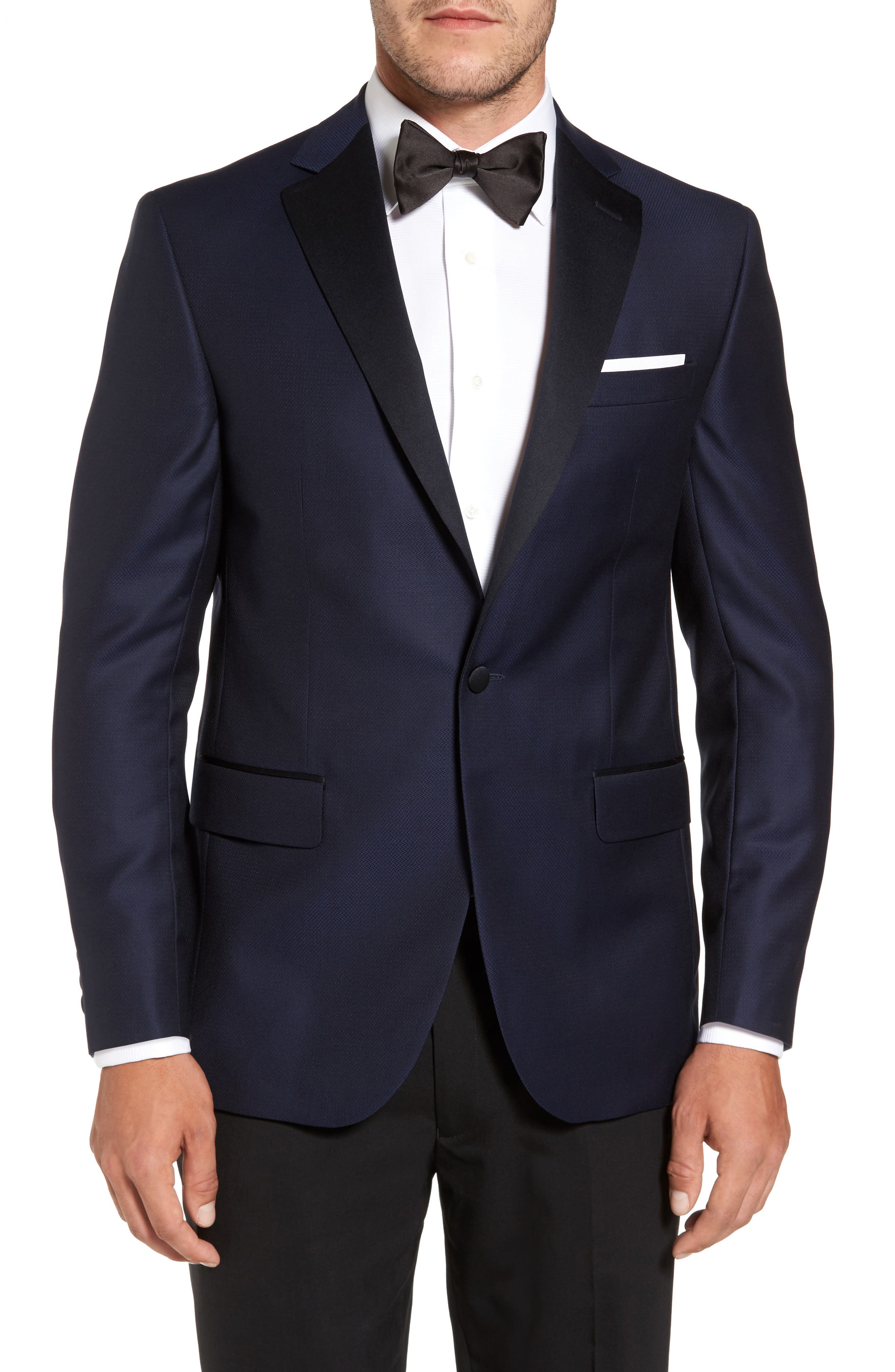 Reed Classic Fit Dinner Jacket,                         Main,                         color, 001