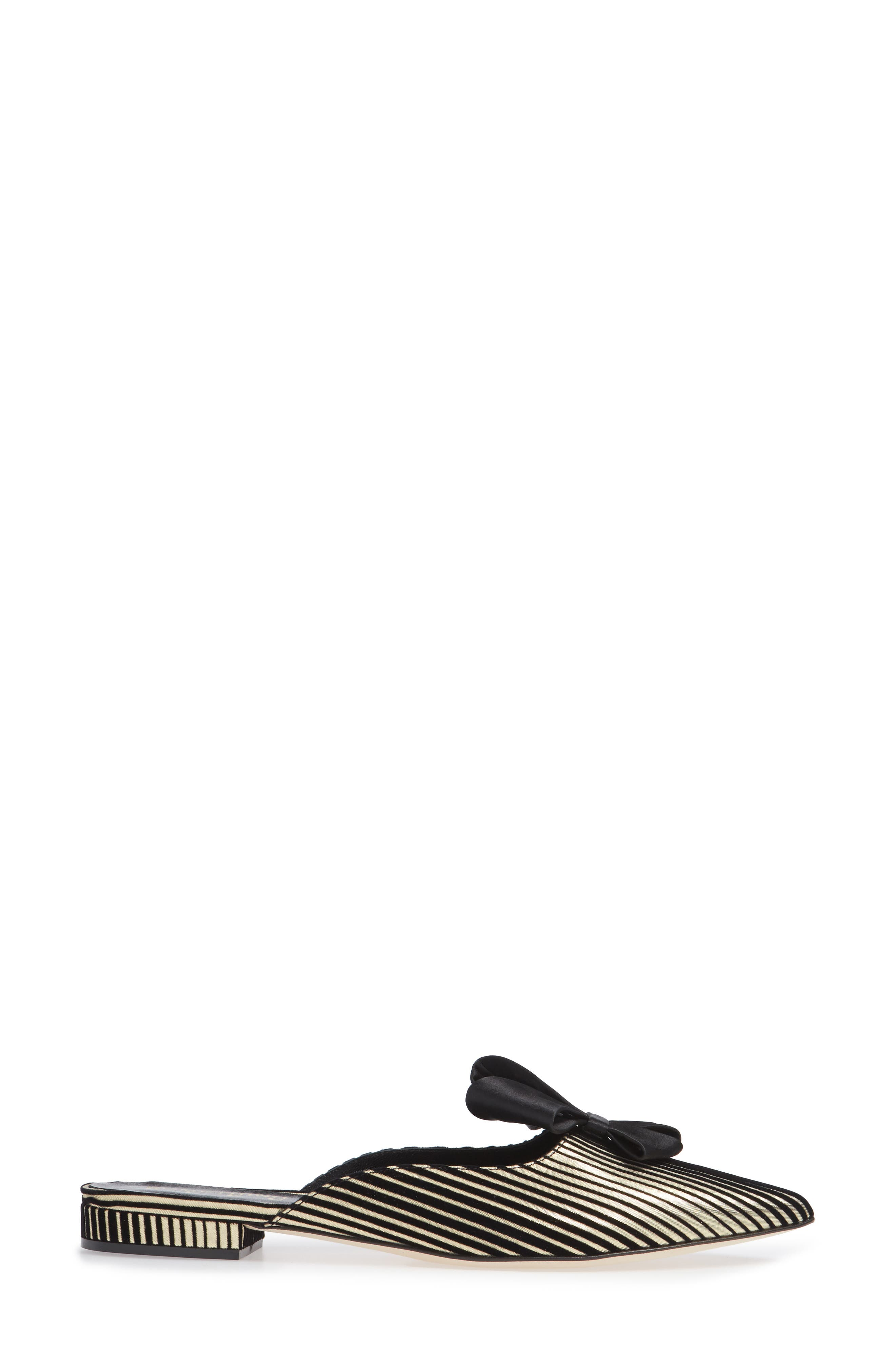 Prince Bow Loafer Mule,                             Alternate thumbnail 3, color,                             002