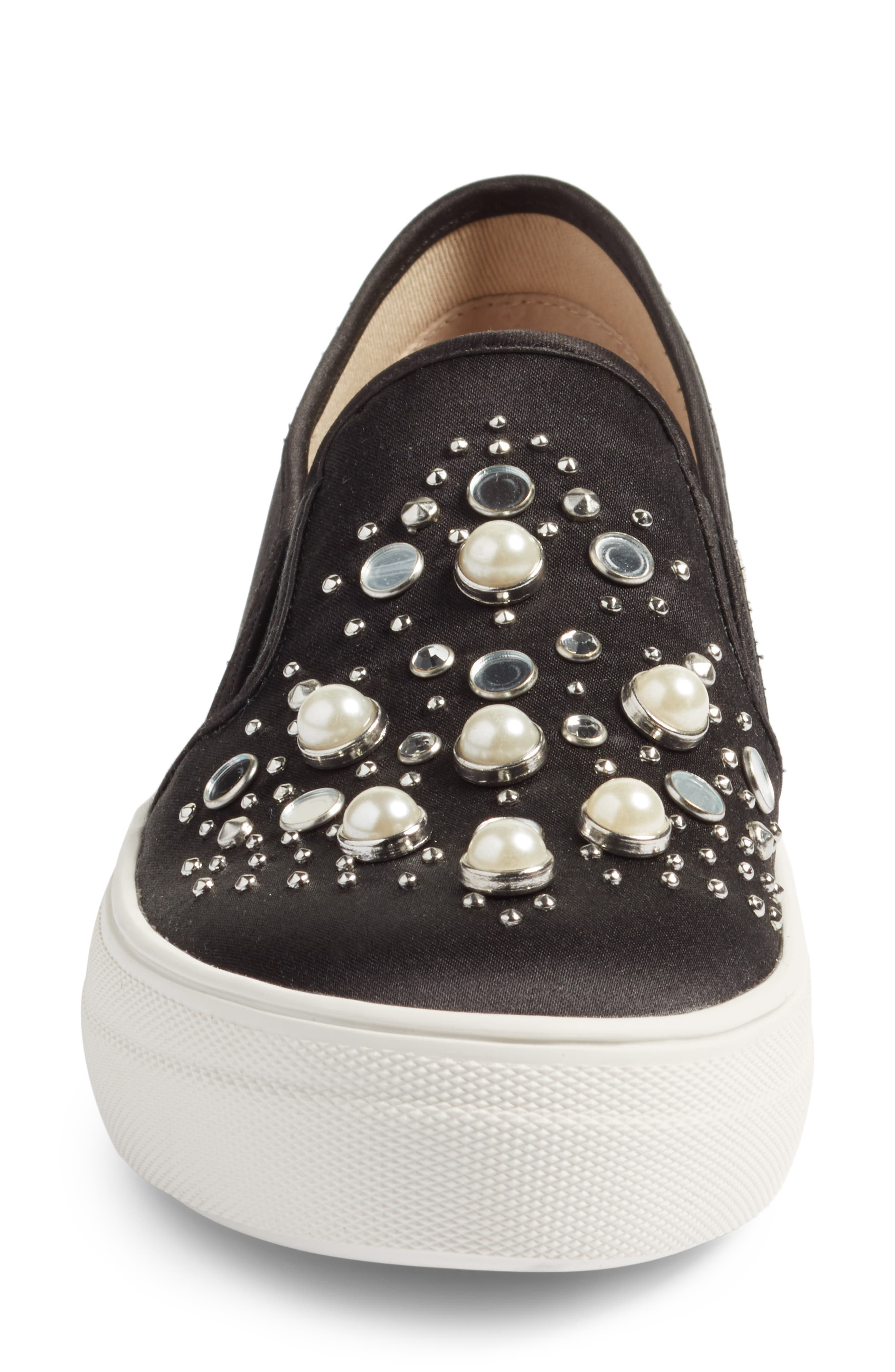 Glade Embellished Slip-On Sneaker,                             Alternate thumbnail 4, color,                             001