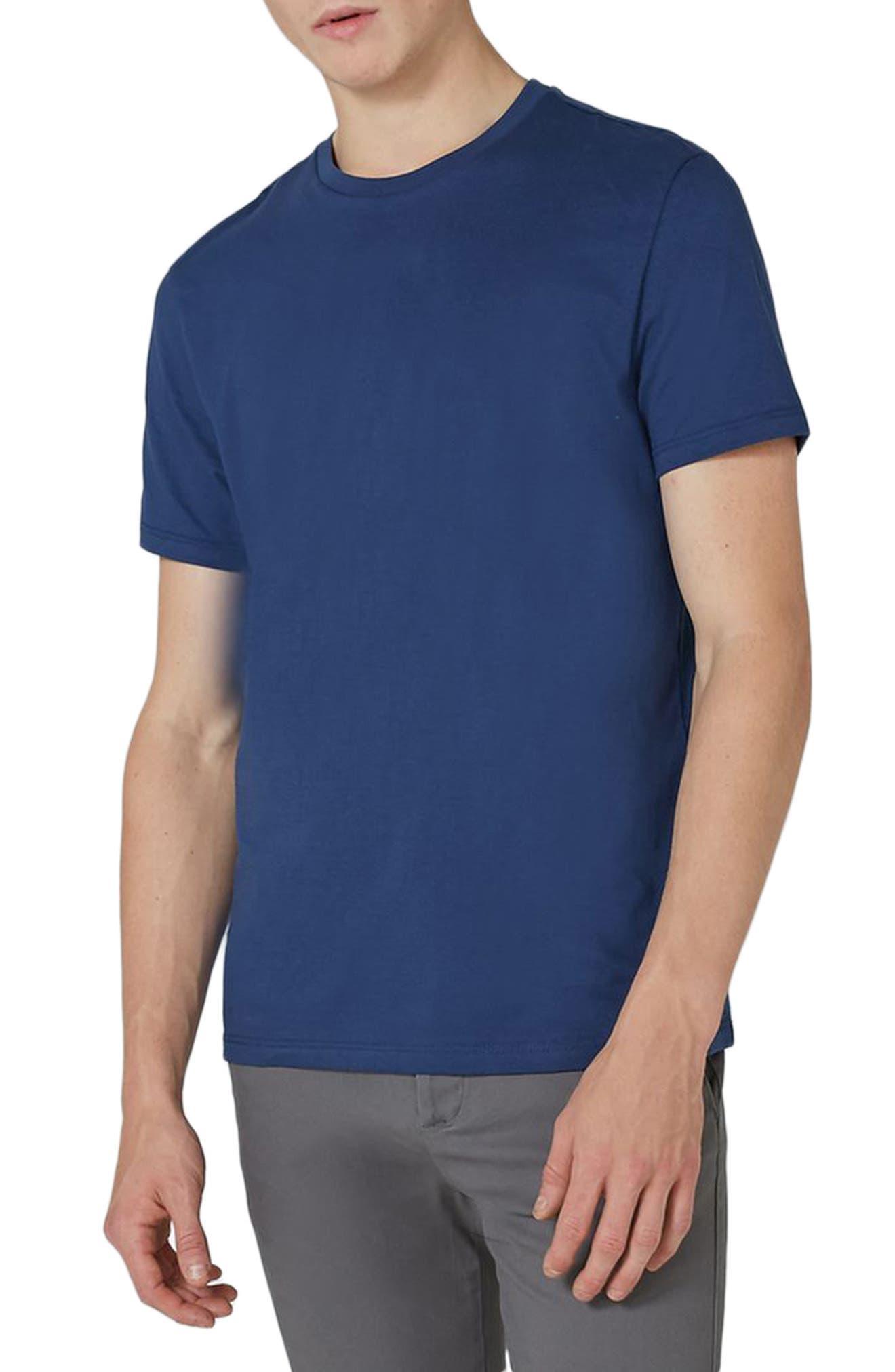 Slim Fit Crewneck T-Shirt,                         Main,                         color, LIGHT BLUE