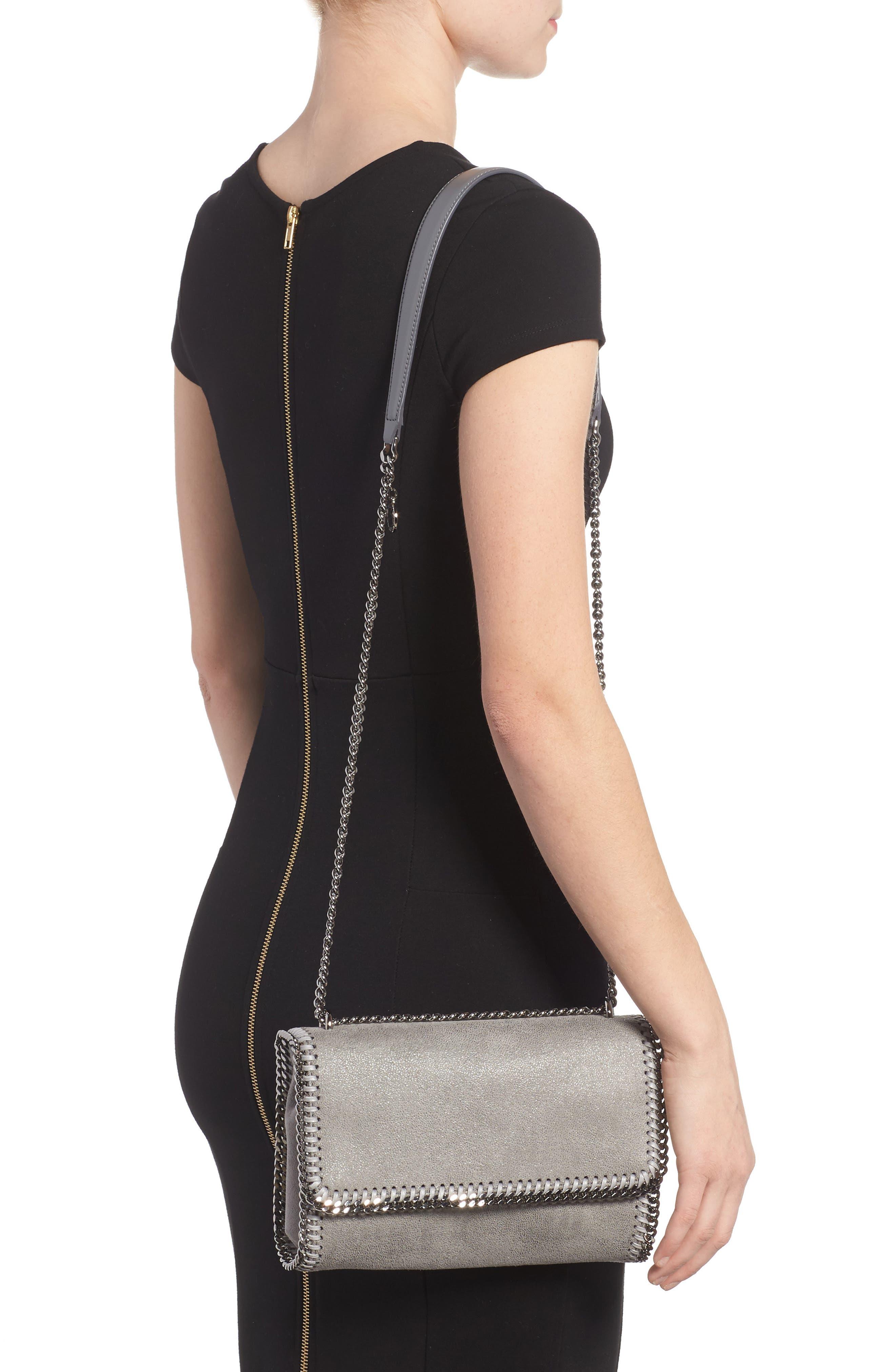 Shaggy Deer Flap Shoulder Bag,                             Alternate thumbnail 5, color,