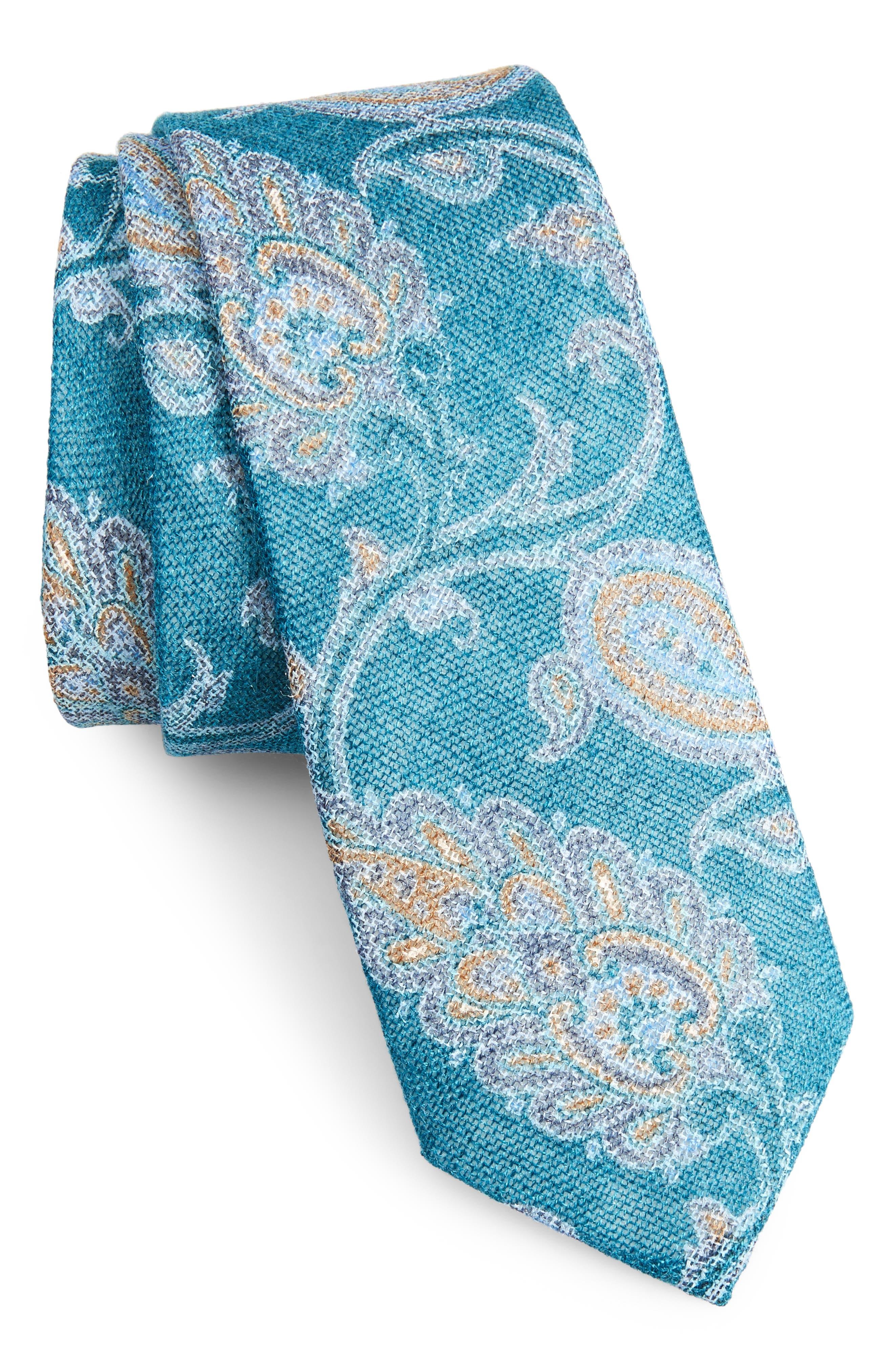 Bradford Paisley Skinny Tie,                             Main thumbnail 4, color,