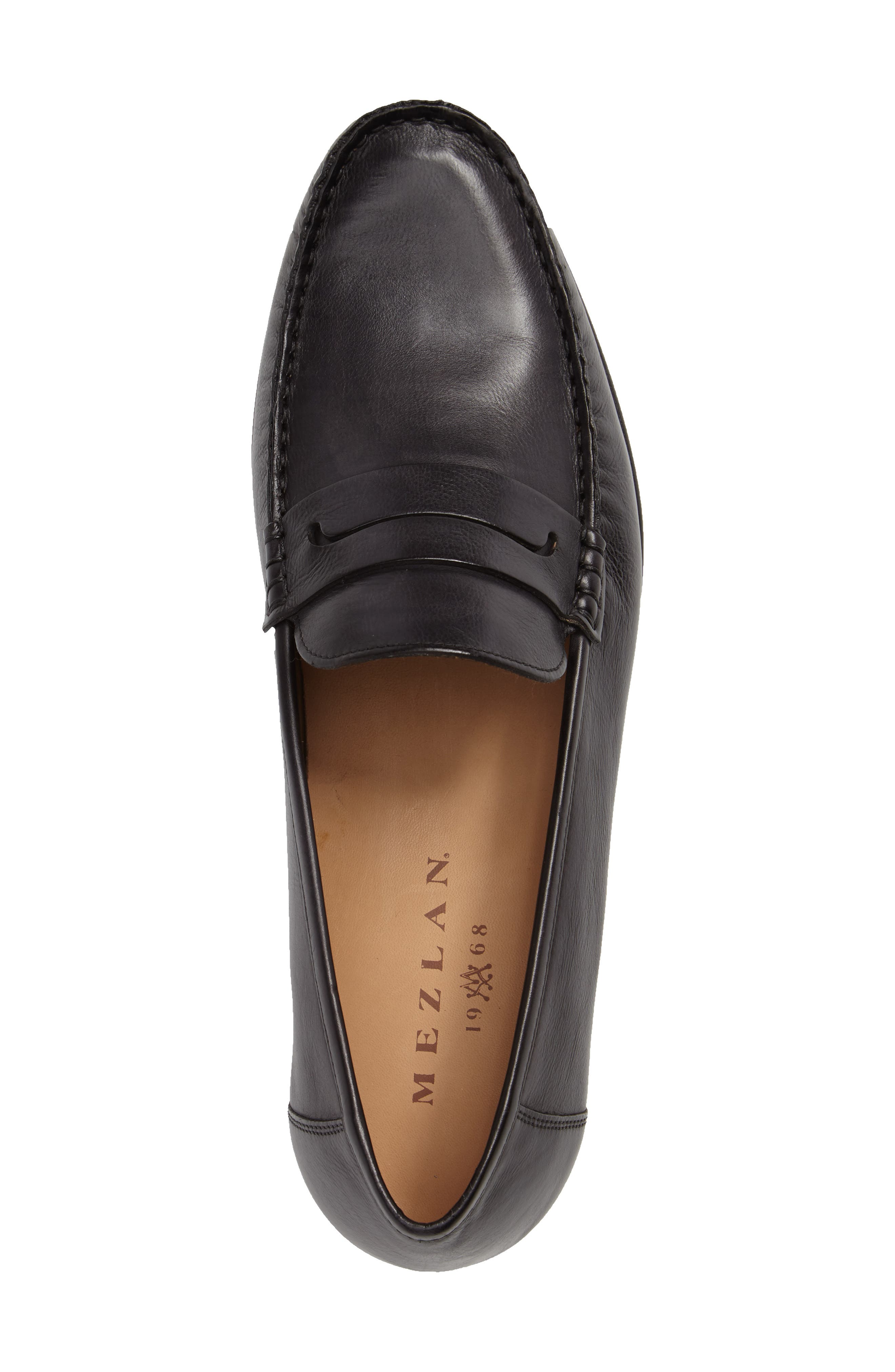 Pauli Classic Penny Loafer,                             Alternate thumbnail 3, color,                             BLACK LEATHER