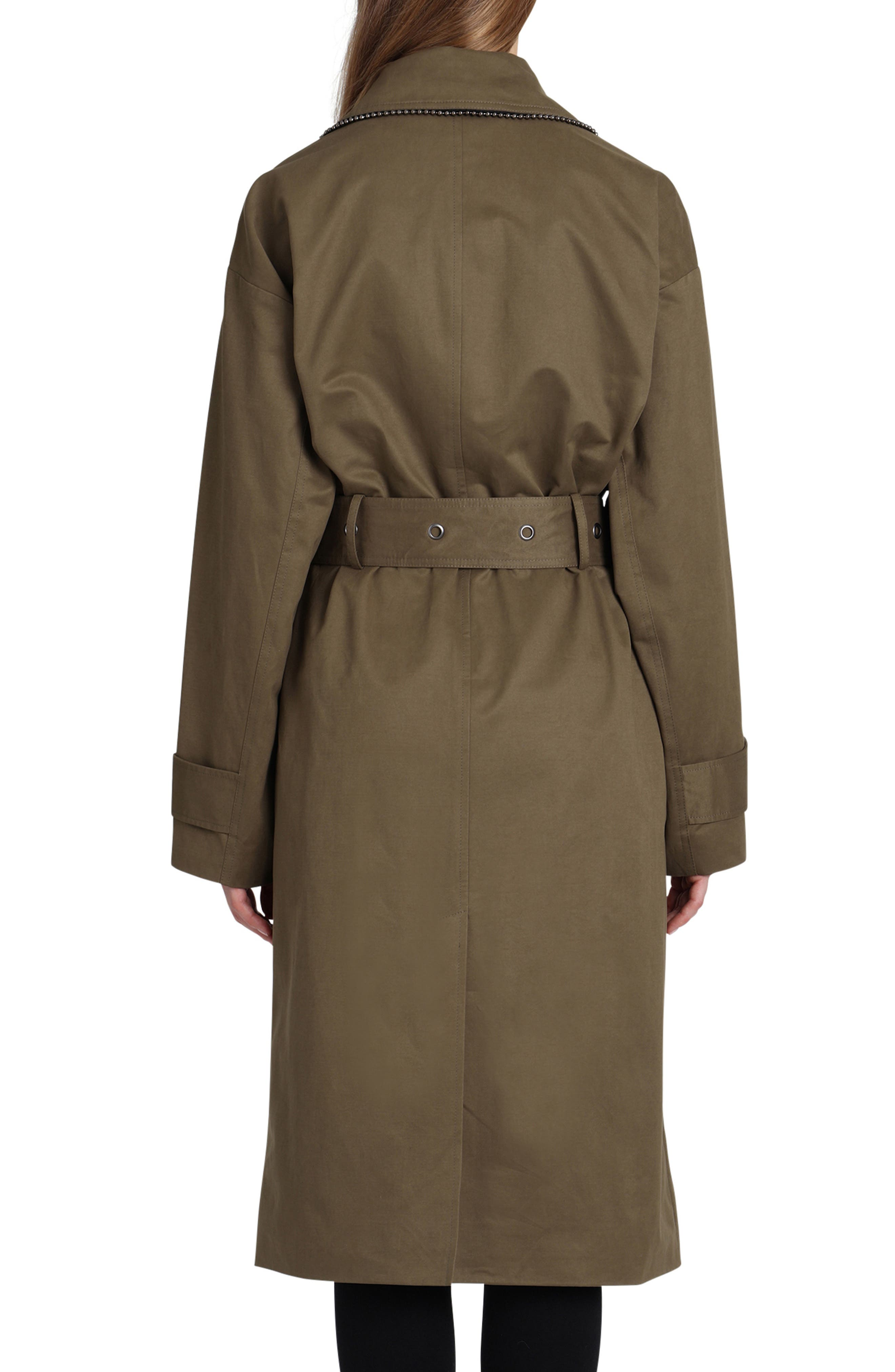 Badgley Mischka Cotton Blend Utility Trench Coat,                             Alternate thumbnail 2, color,                             301