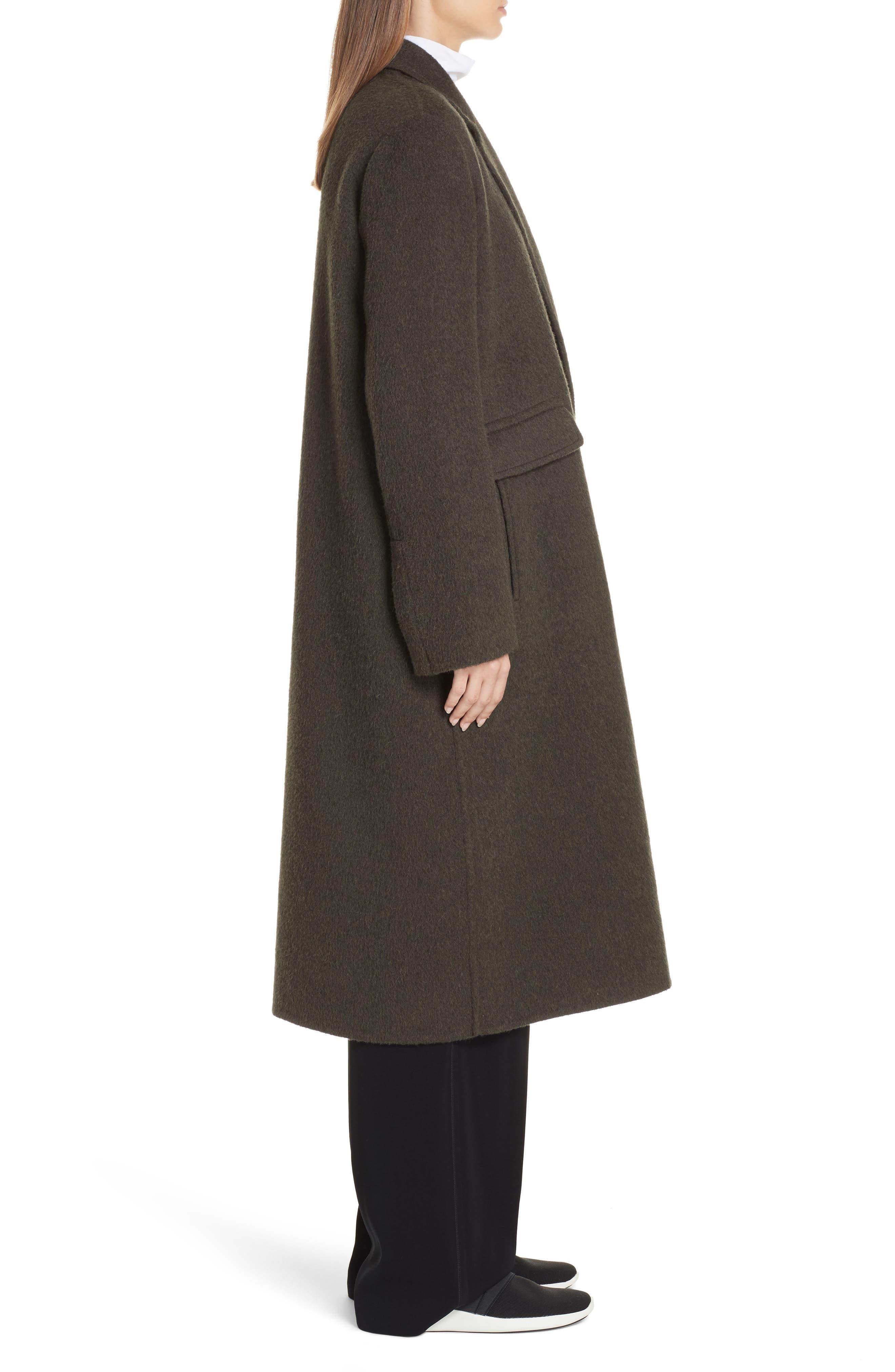VINCE,                             Long Wool Alpaca Blend Coat,                             Alternate thumbnail 4, color,                             341