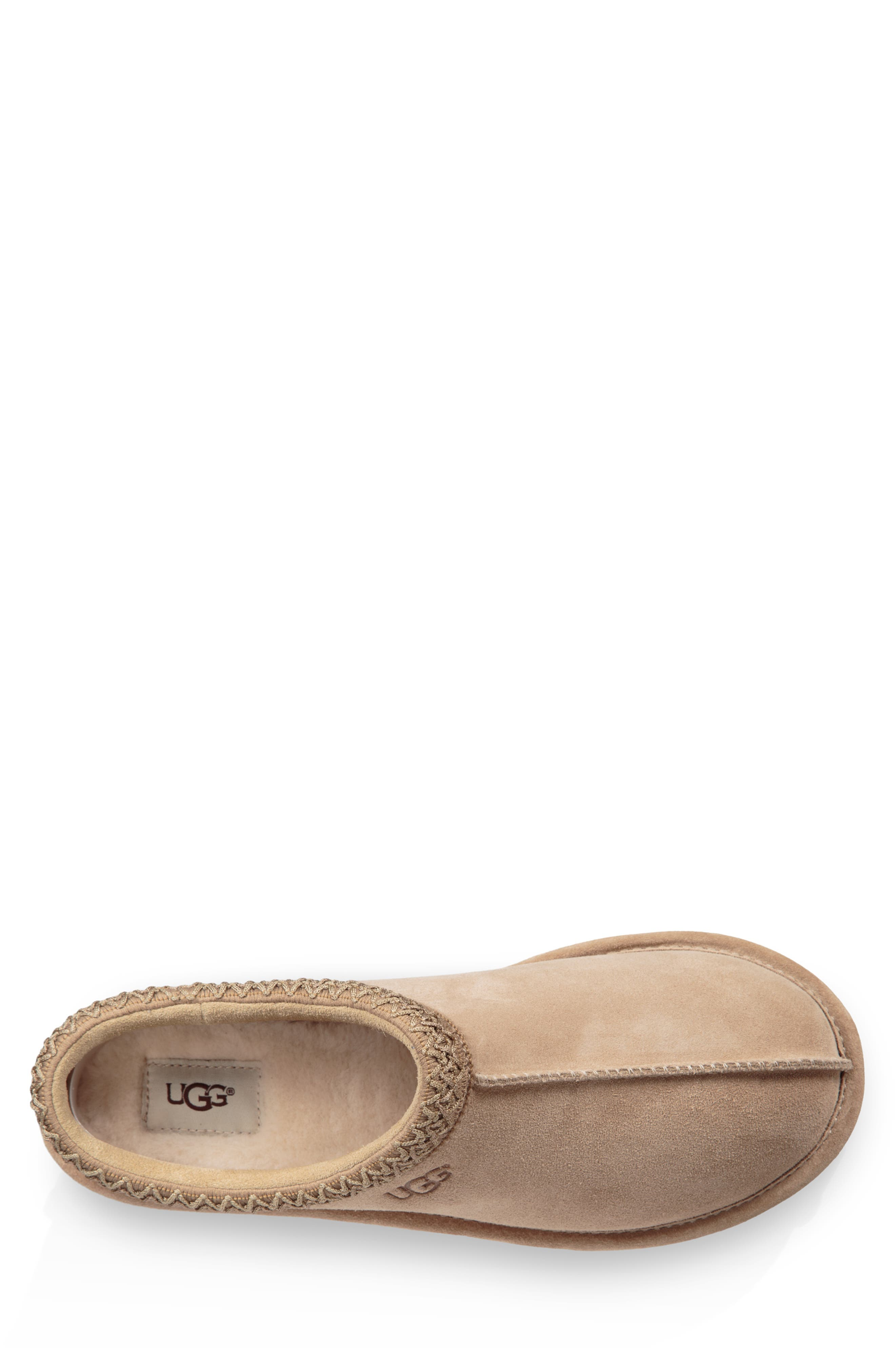 Tasman Pinnacle Indoor/Outdoor Horween Slipper,                             Alternate thumbnail 4, color,                             BEIGE