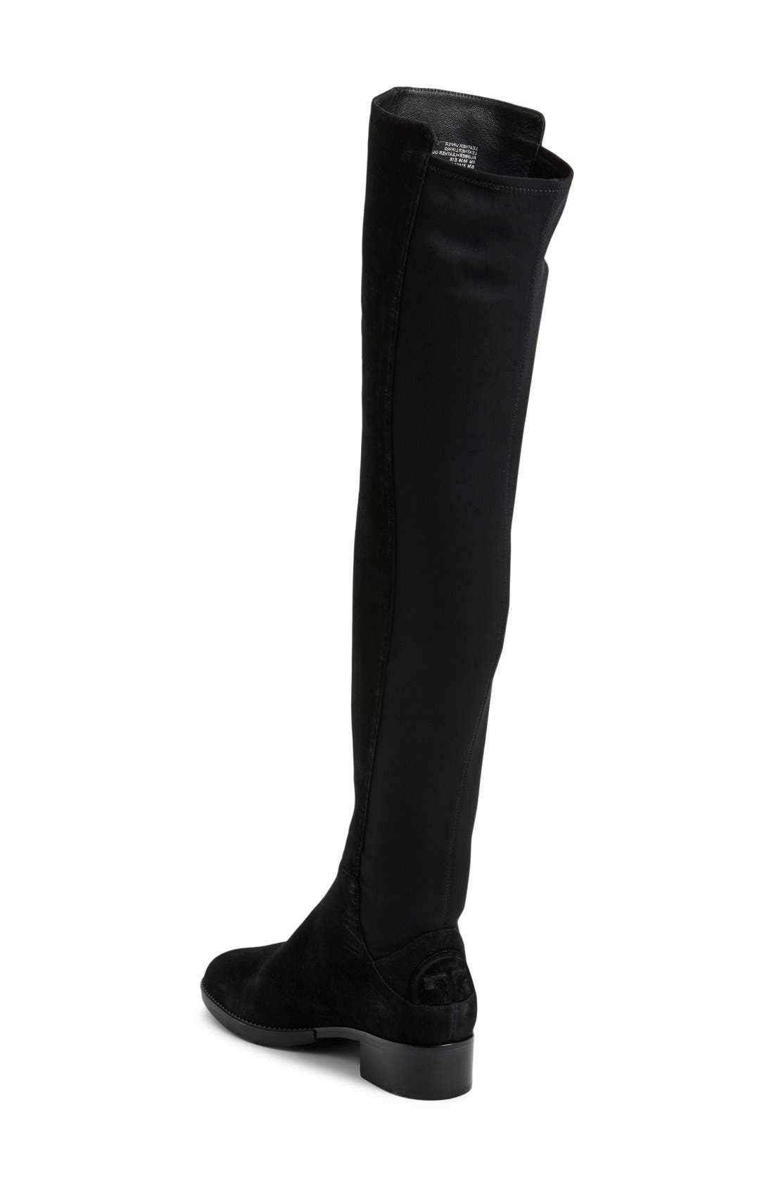 TORY BURCH,                             'Caitlin' Over the Knee Boot,                             Alternate thumbnail 2, color,                             001