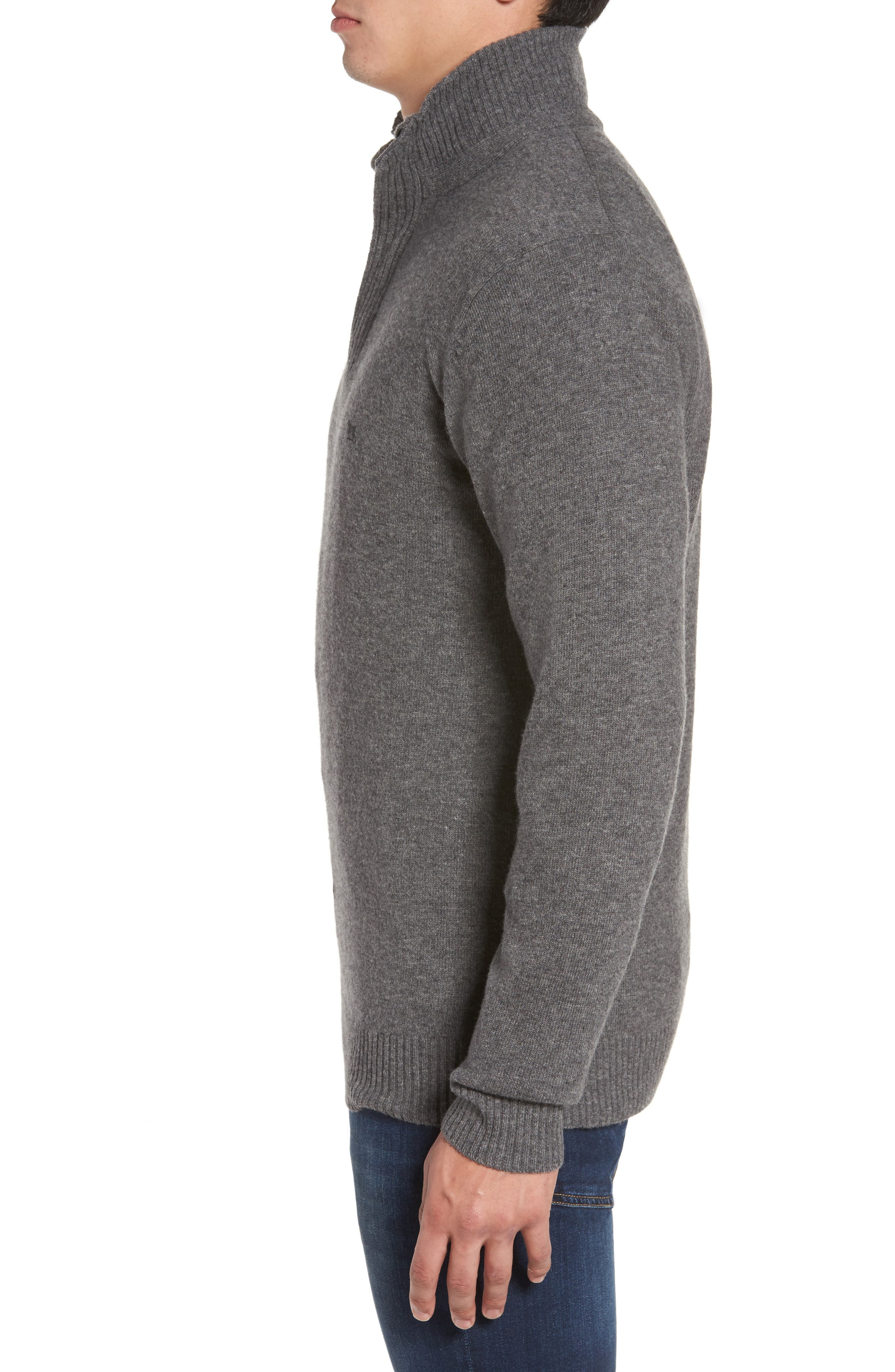 Cape Rodney Lambswool Pullover,                             Alternate thumbnail 3, color,                             CHARCOAL