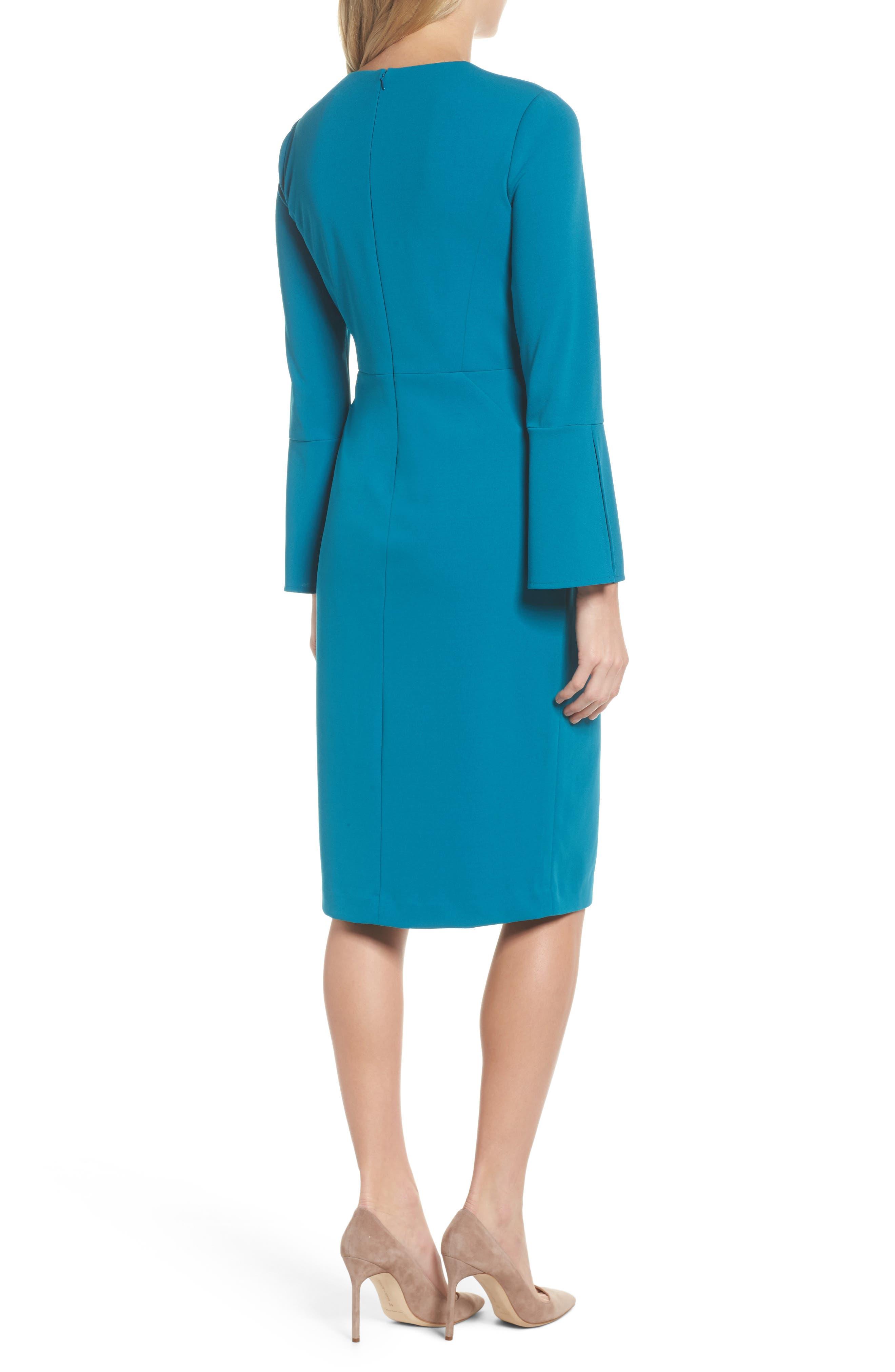 Bell Sleeve Sheath Dress,                             Alternate thumbnail 2, color,                             436