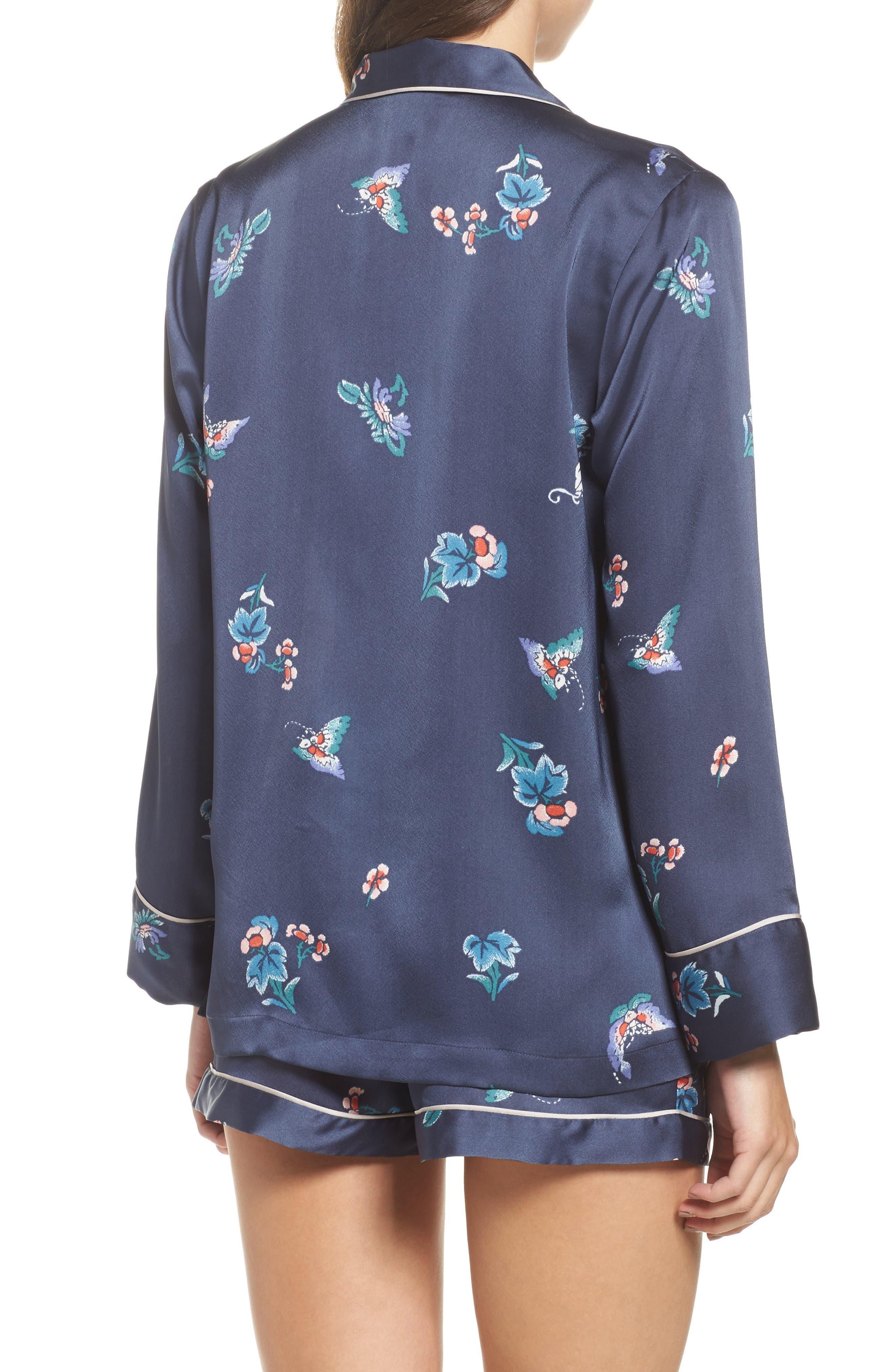Papillon Print Short Pajamas,                             Alternate thumbnail 6, color,