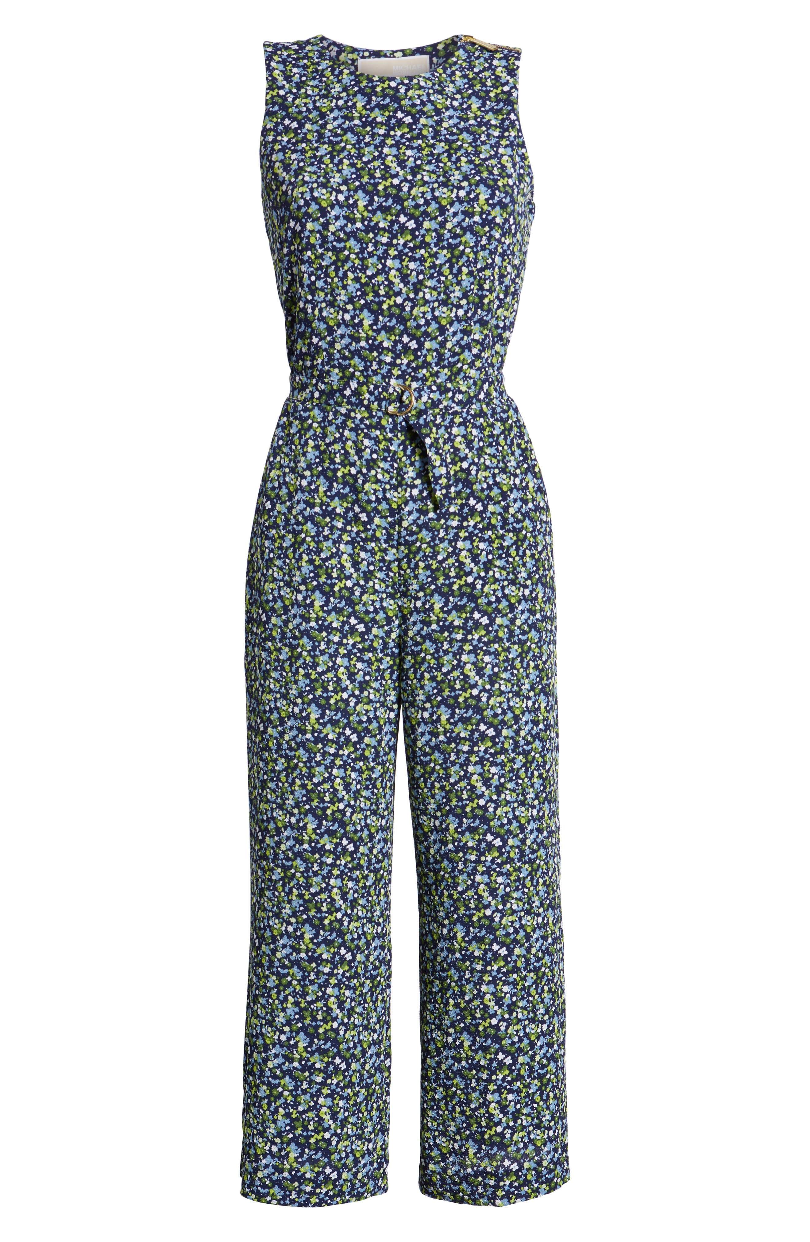 Wildflower Print Jumpsuit,                             Alternate thumbnail 6, color,                             362