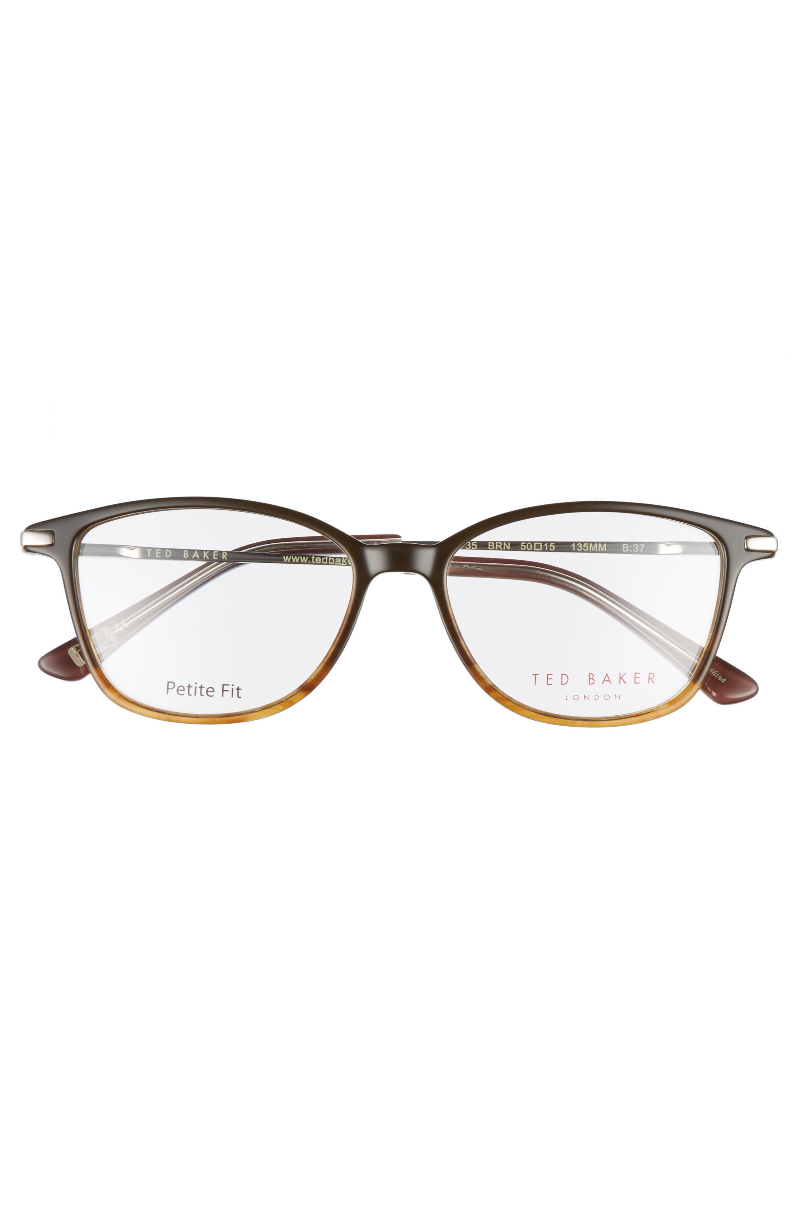 Petite Fit 50mm Optical Glasses,                             Alternate thumbnail 3, color,