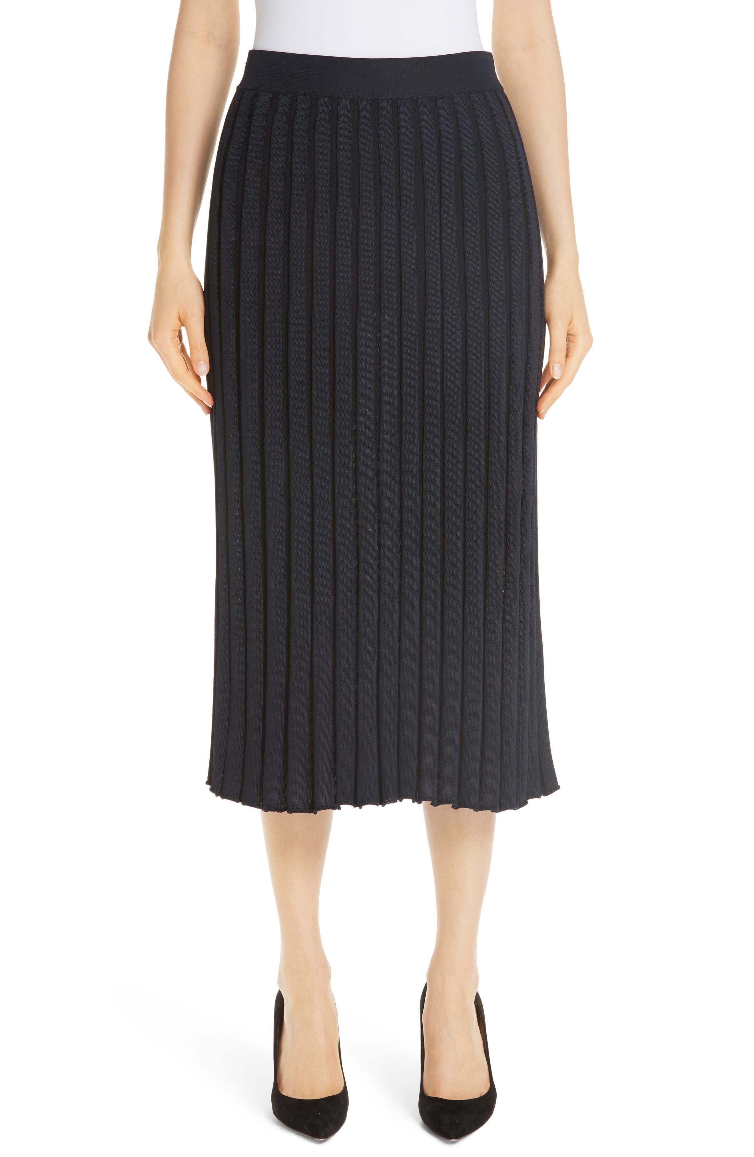 Metropolitan Shine Plaited Rib Skirt, Main, color, 400