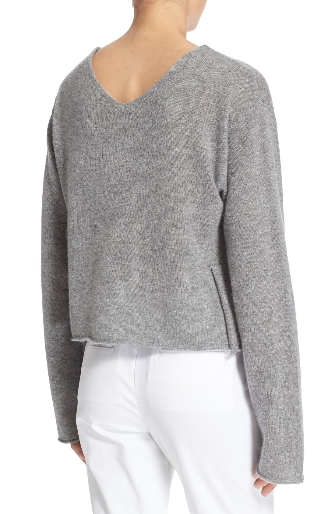 'Martin' Cashmere Crop Sweater,                             Alternate thumbnail 2, color,                             020