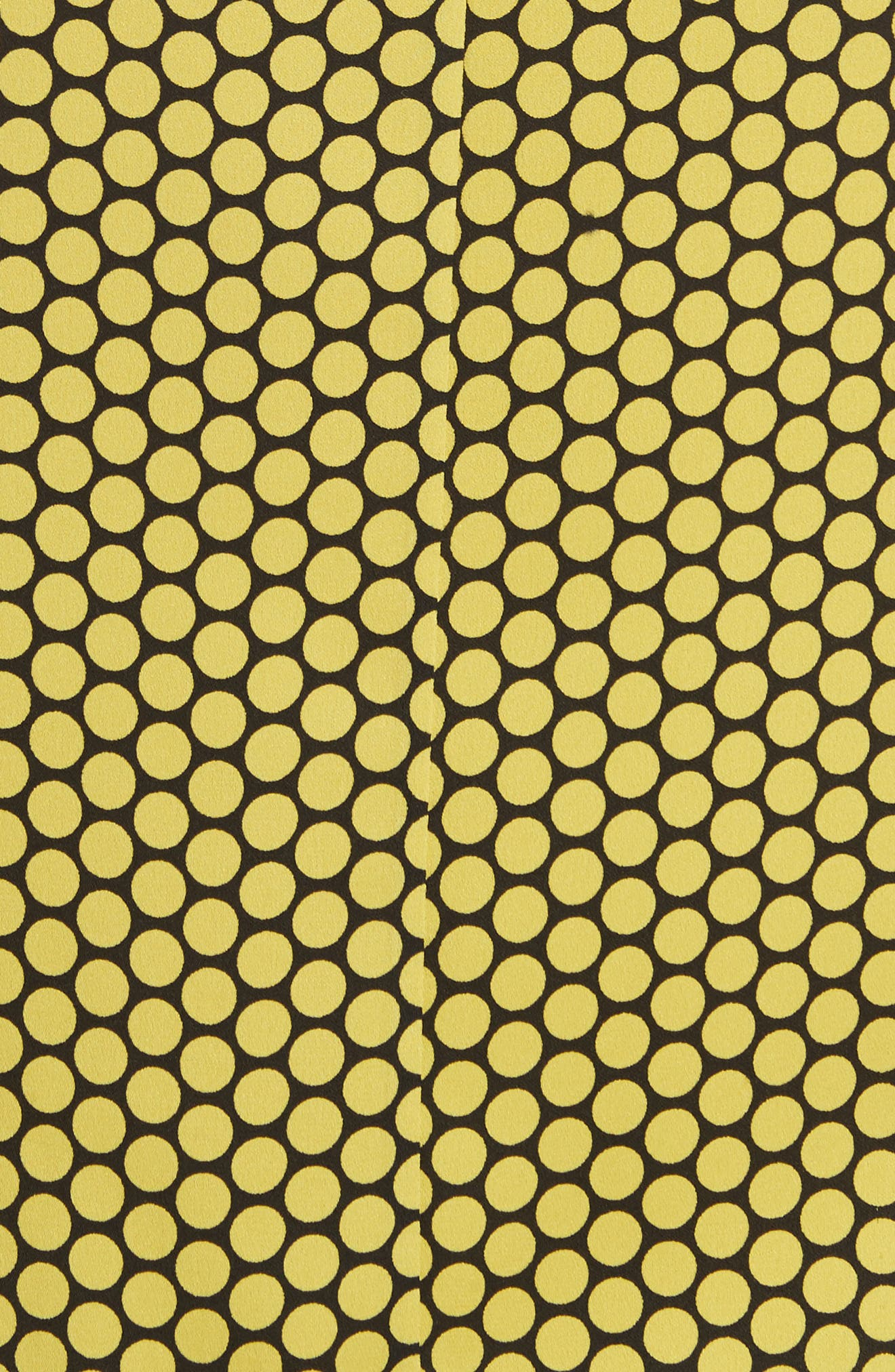Diane von Furstenberg Floral Print Silk Shell,                             Alternate thumbnail 5, color,                             WORSLEY CITRON/ ROWE DOT