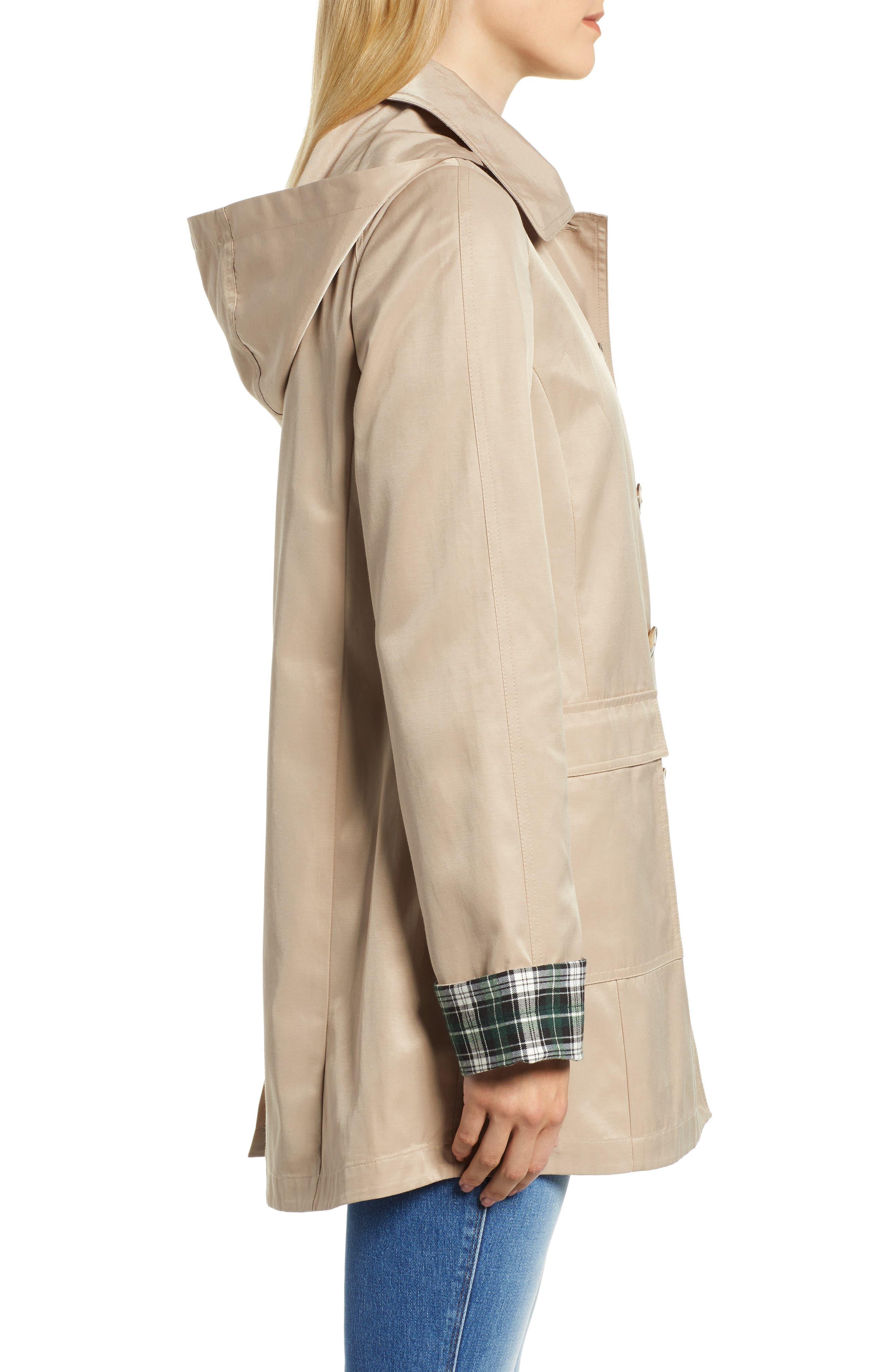 Hooded Mac Jacket,                             Alternate thumbnail 3, color,                             KHAKI