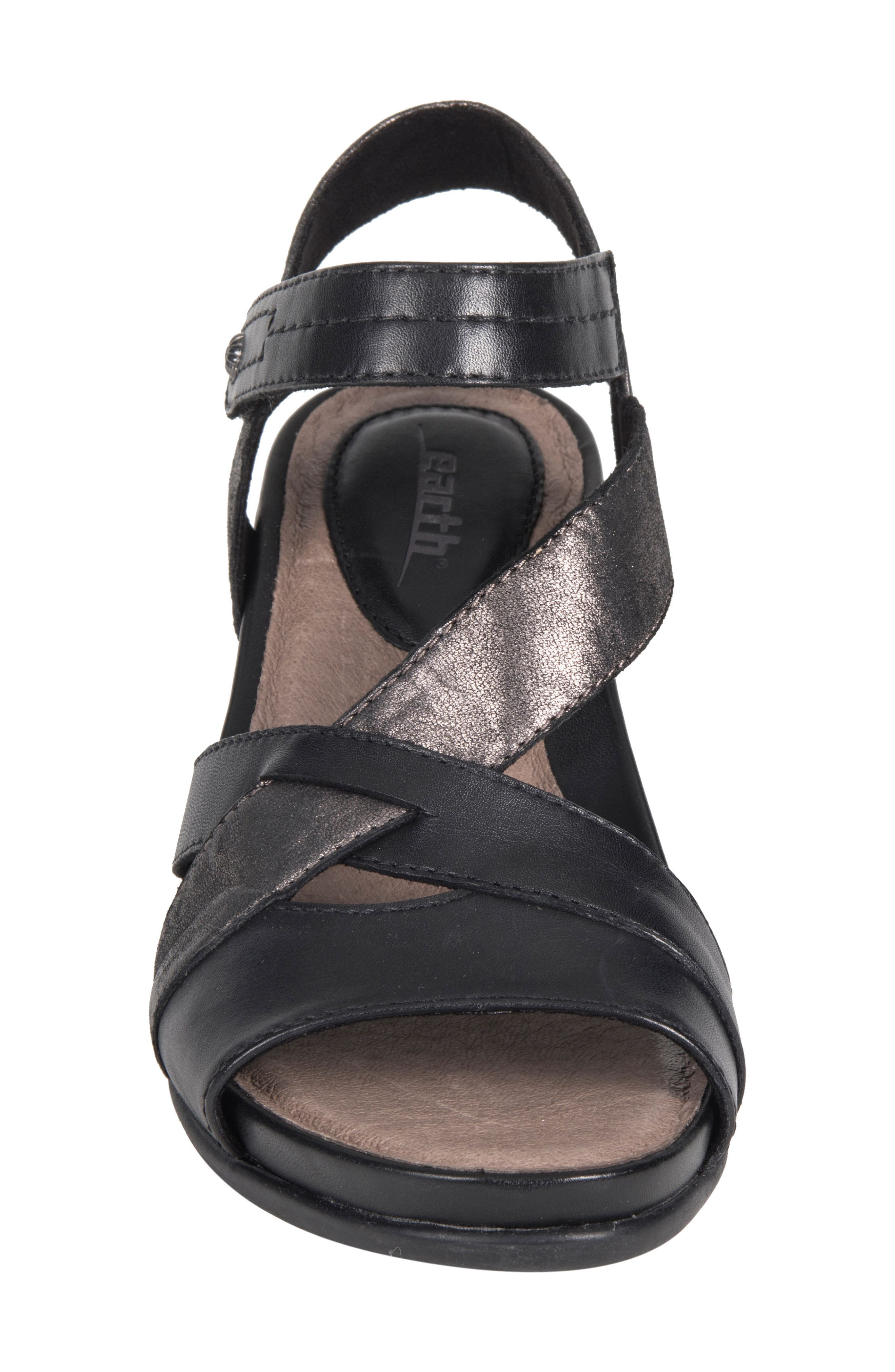 Thistle Wedge Sandal,                             Alternate thumbnail 3, color,                             001