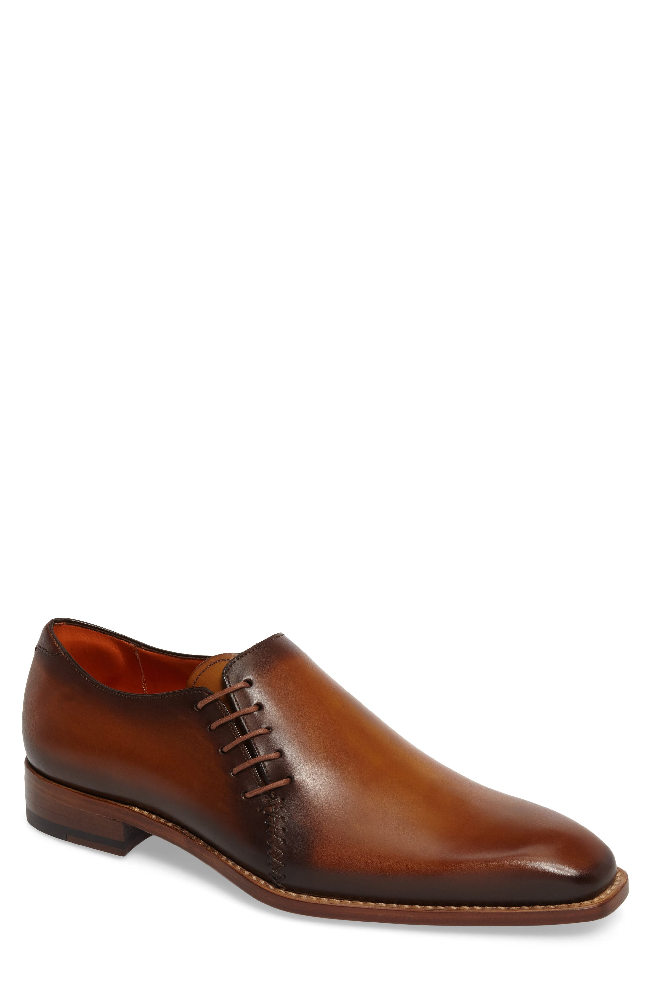 MEZLAN Master Wholecut Oxford, Main, color, HONEY LEATHER