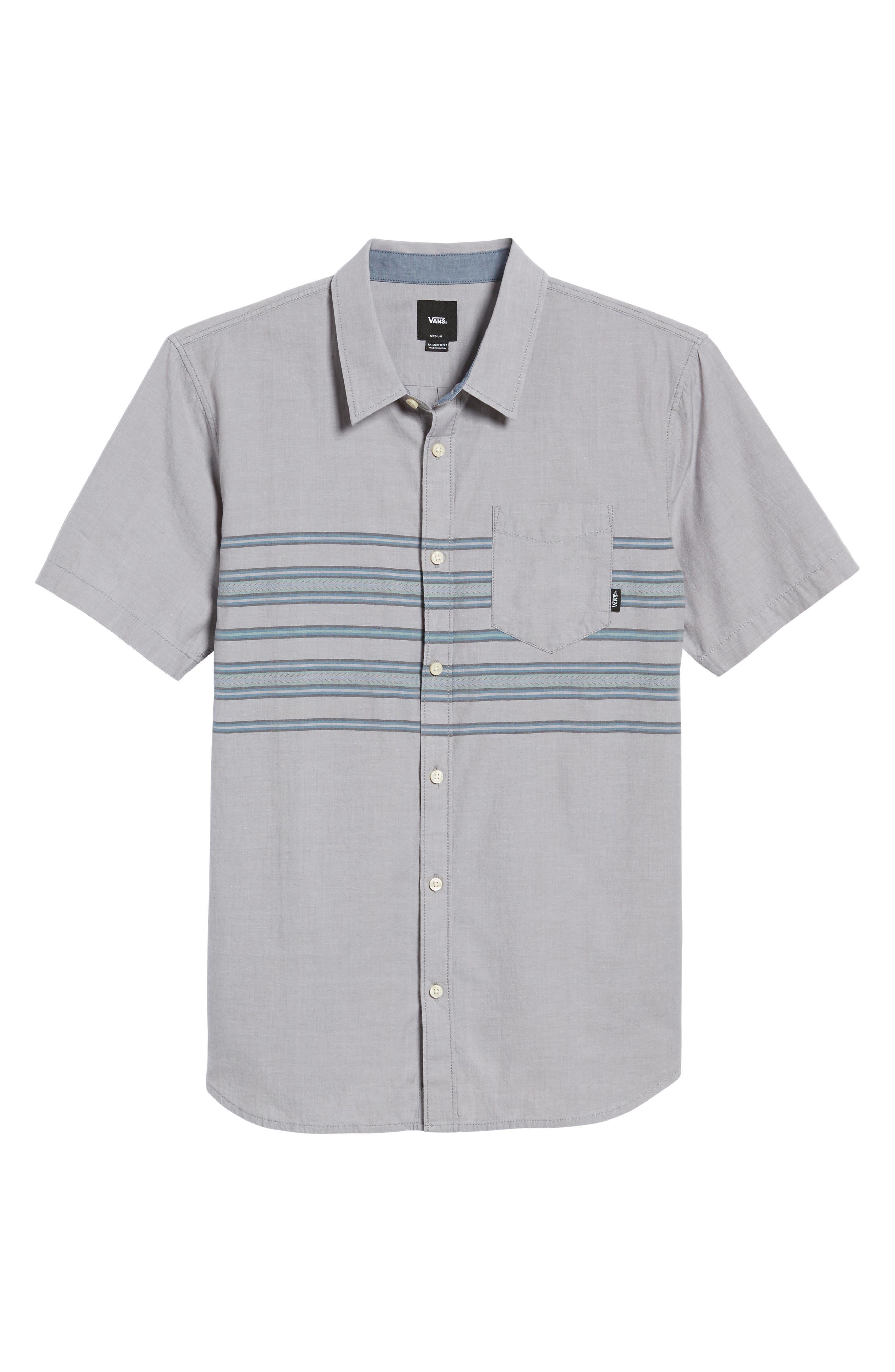 Benmore Striped Woven Shirt,                             Alternate thumbnail 6, color,                             021