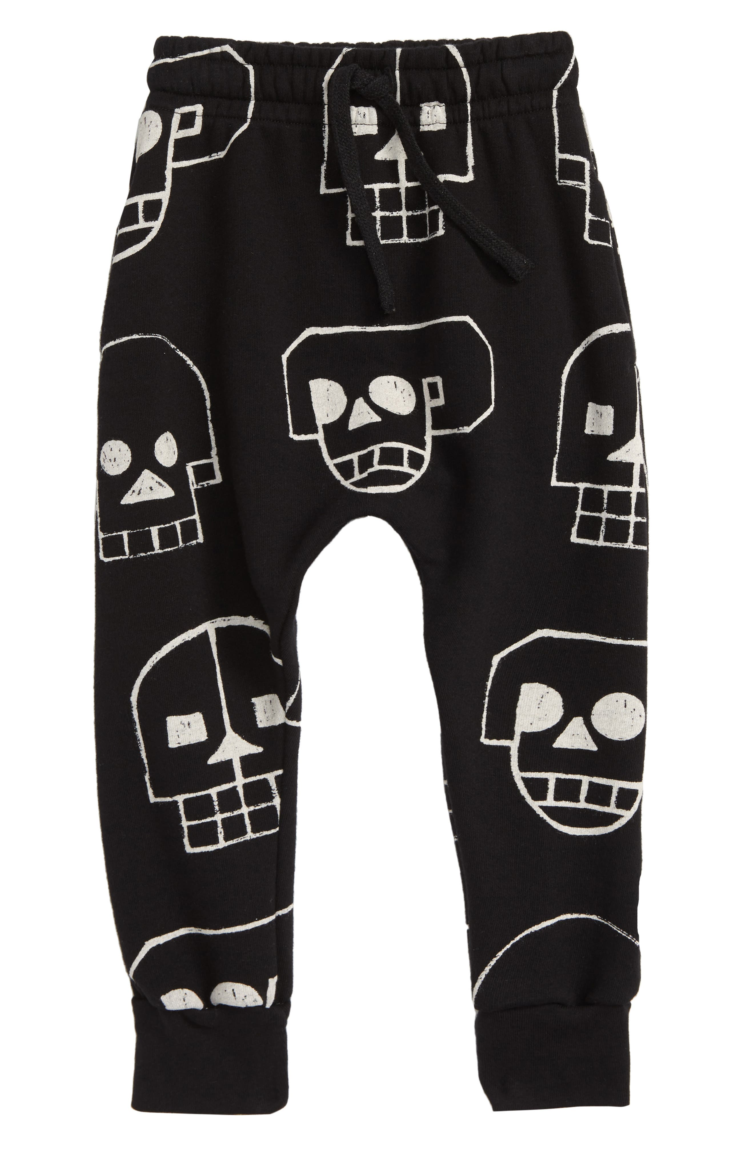 Skull Robot Baggy Sweatpants,                             Main thumbnail 1, color,                             001