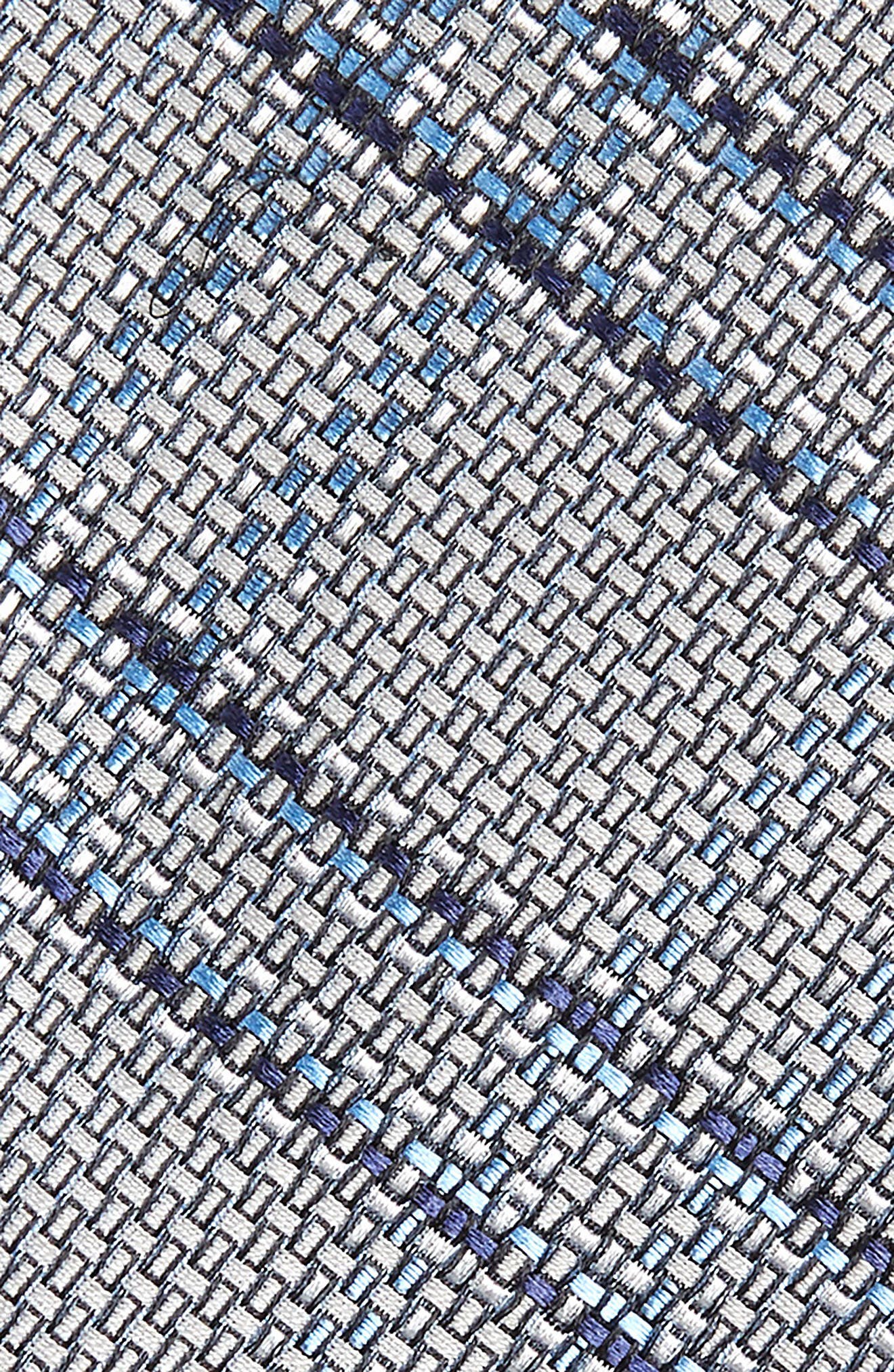 Tasker Plaid Silk & Cotton Tie,                             Alternate thumbnail 2, color,                             040
