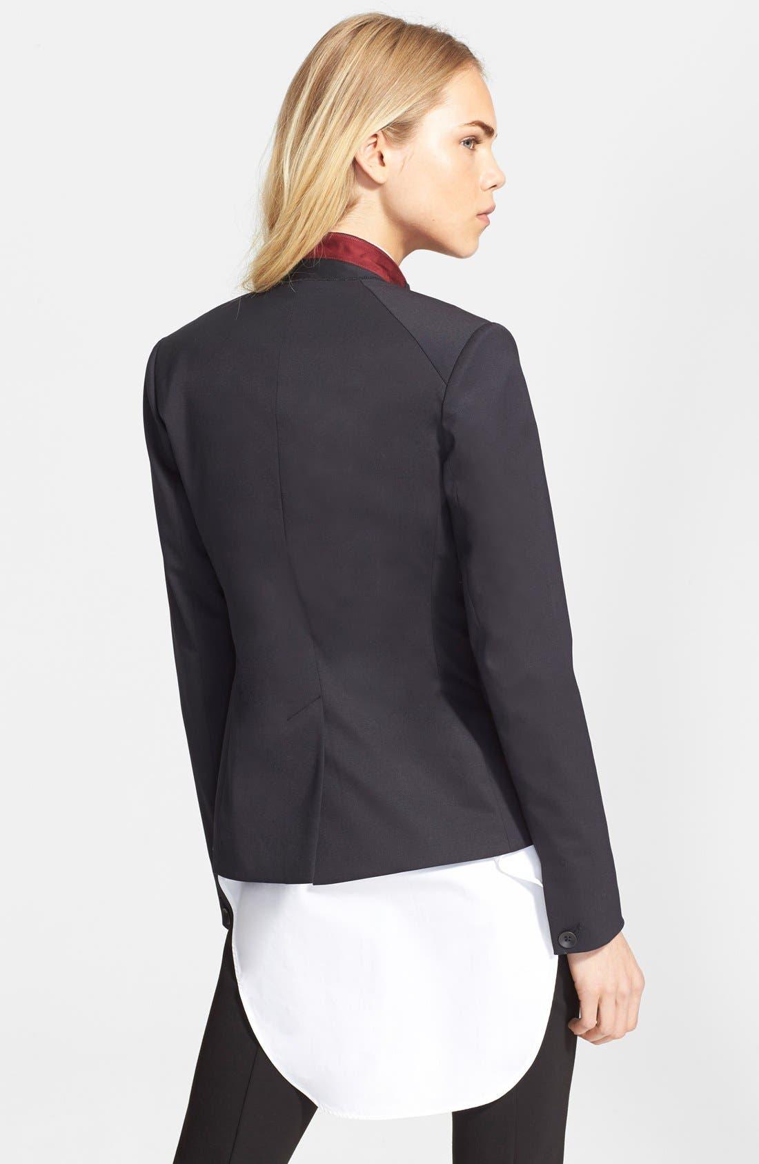 RAG & BONE,                             'Archer' One-Button Wool Blend Blazer,                             Alternate thumbnail 5, color,                             001