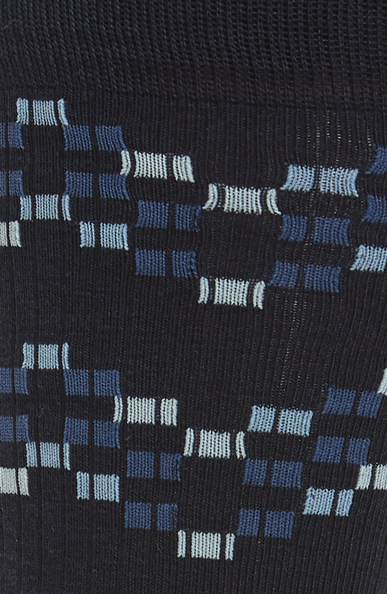Pixel Geo Socks,                             Alternate thumbnail 2, color,                             NAVY/ BLUE