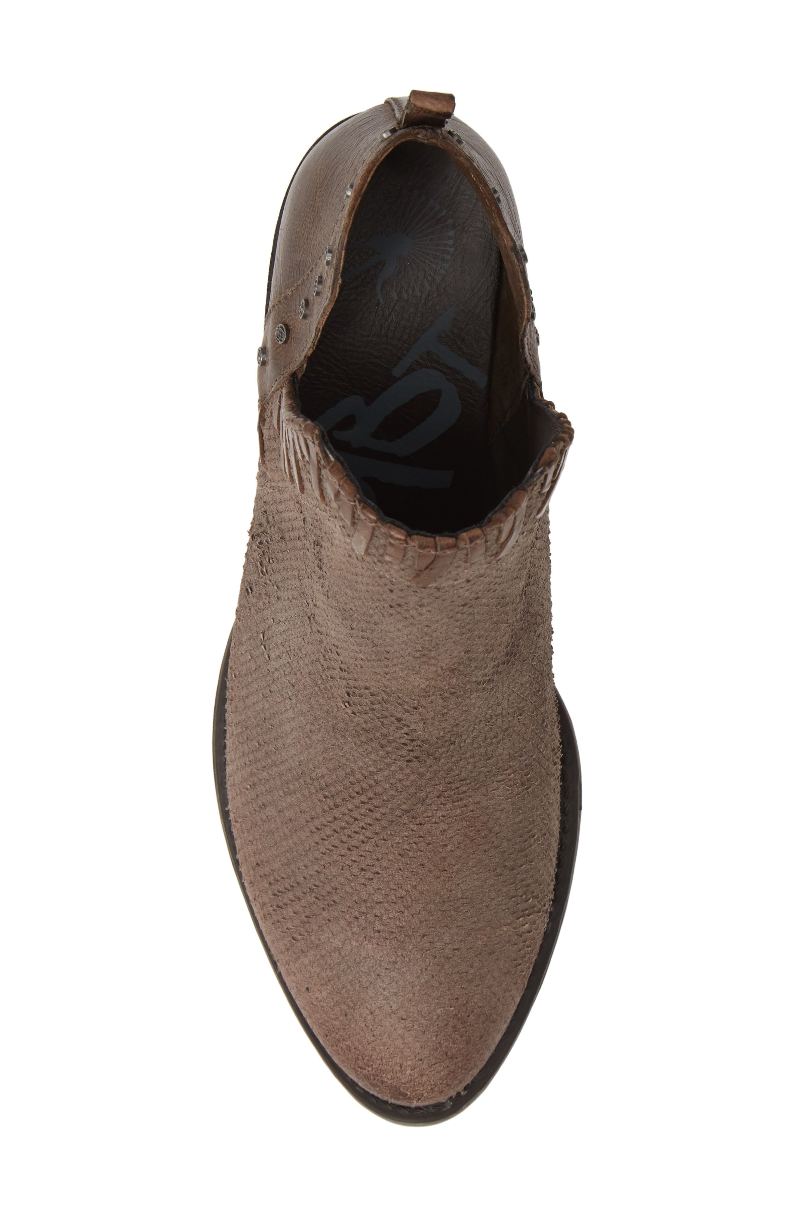 Santa Fe Ankle Bootie,                             Alternate thumbnail 5, color,                             CINDER LEATHER