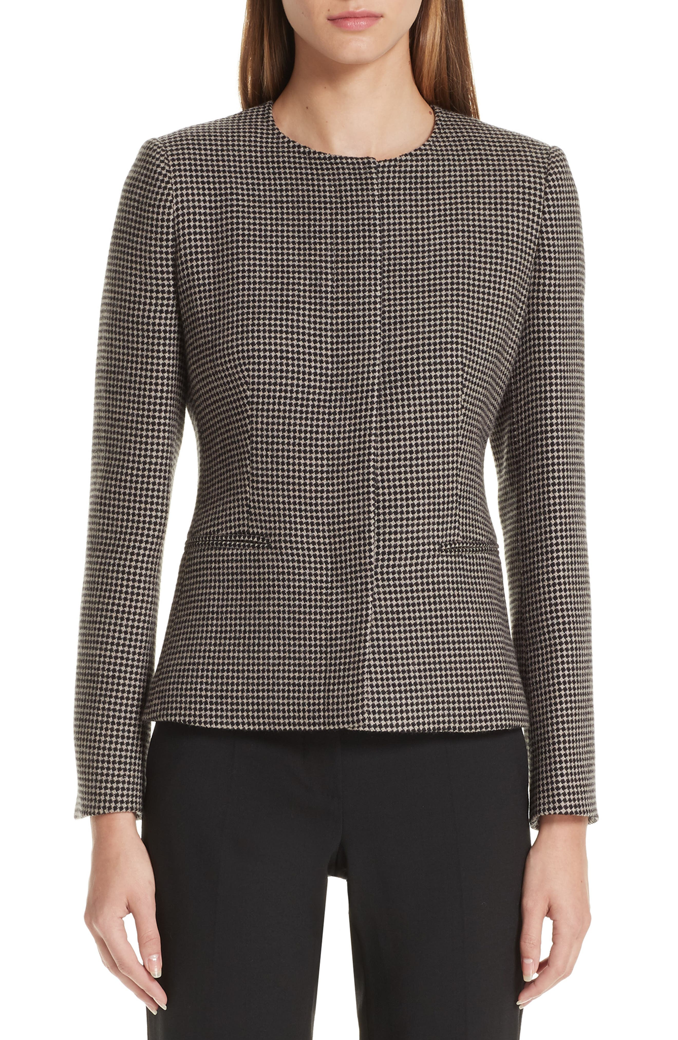 Spigola Wool & Cashmere Jacket,                             Main thumbnail 1, color,                             TURTLEDOVE