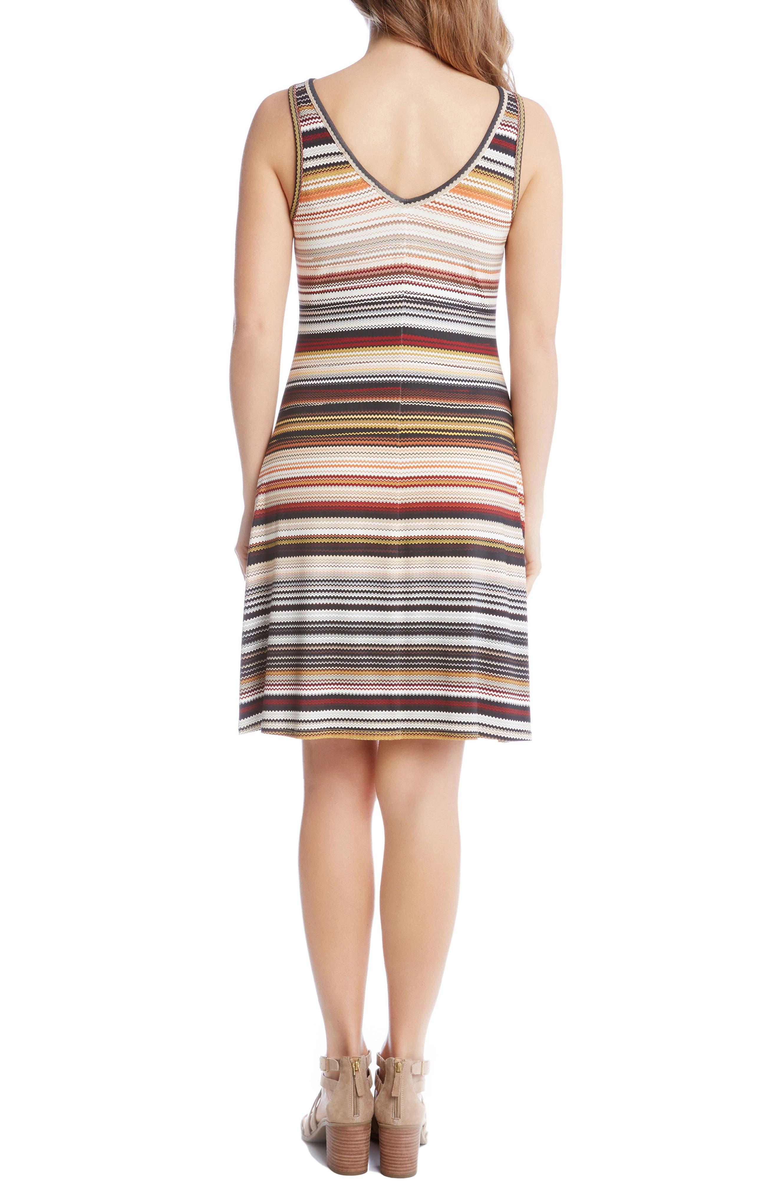 Brigitte Zigzag Stripe Dress,                             Alternate thumbnail 2, color,                             860