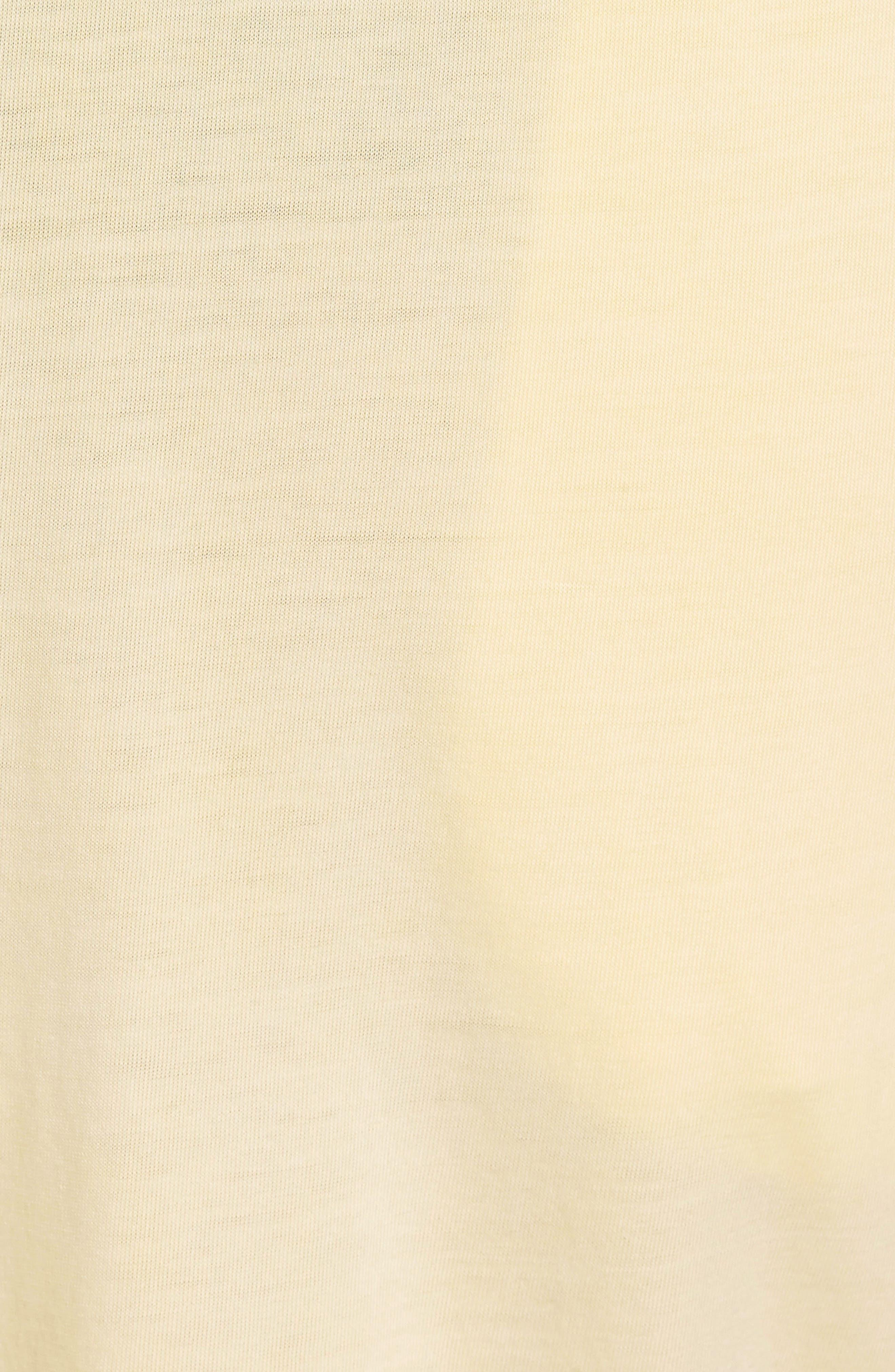Peruvian Pima Cotton Lounge Pants,                             Alternate thumbnail 5, color,                             YELLOW