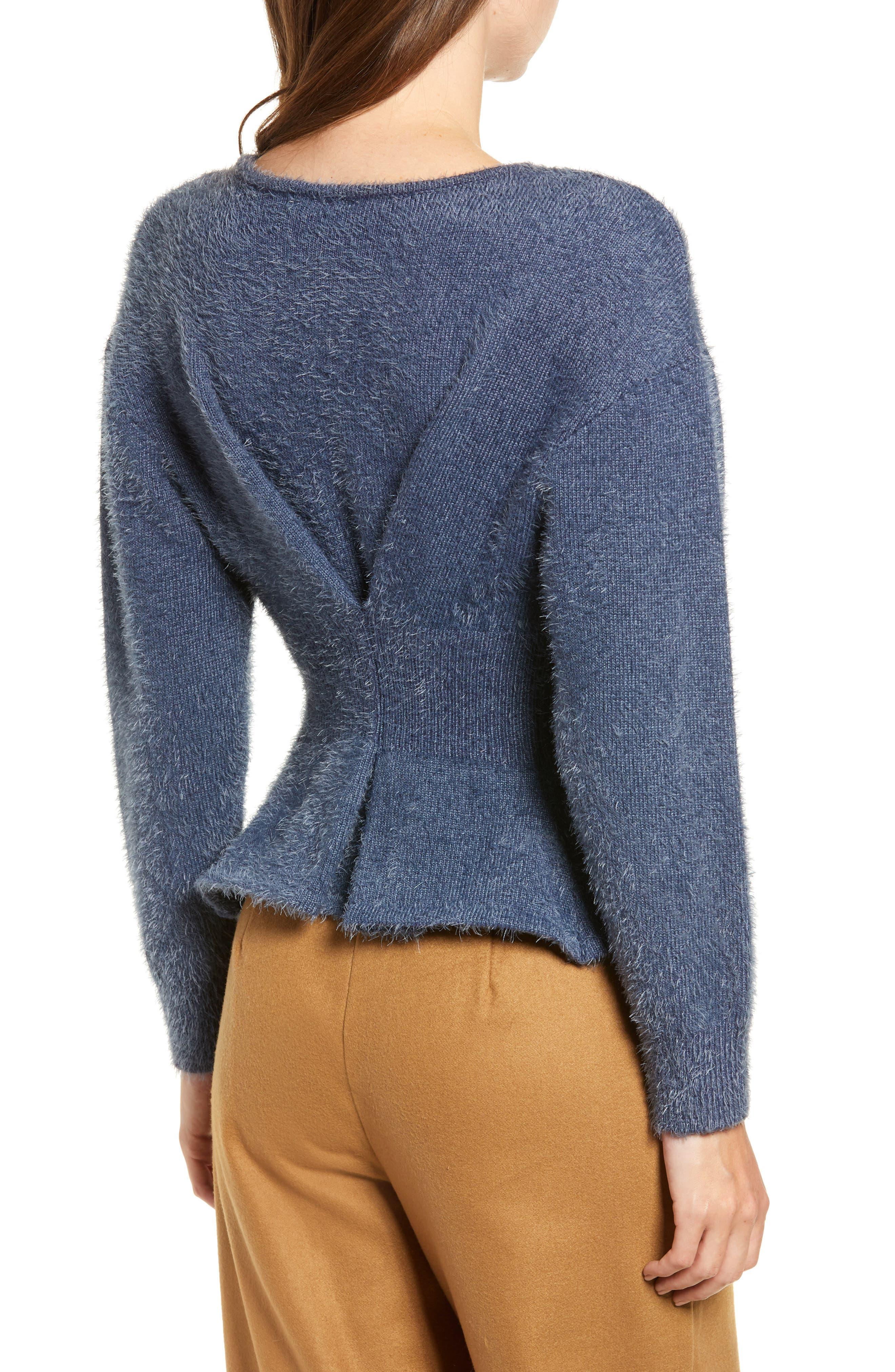 Chriselle Lim Erin Eyelash Sweater,                             Alternate thumbnail 3, color,                             400