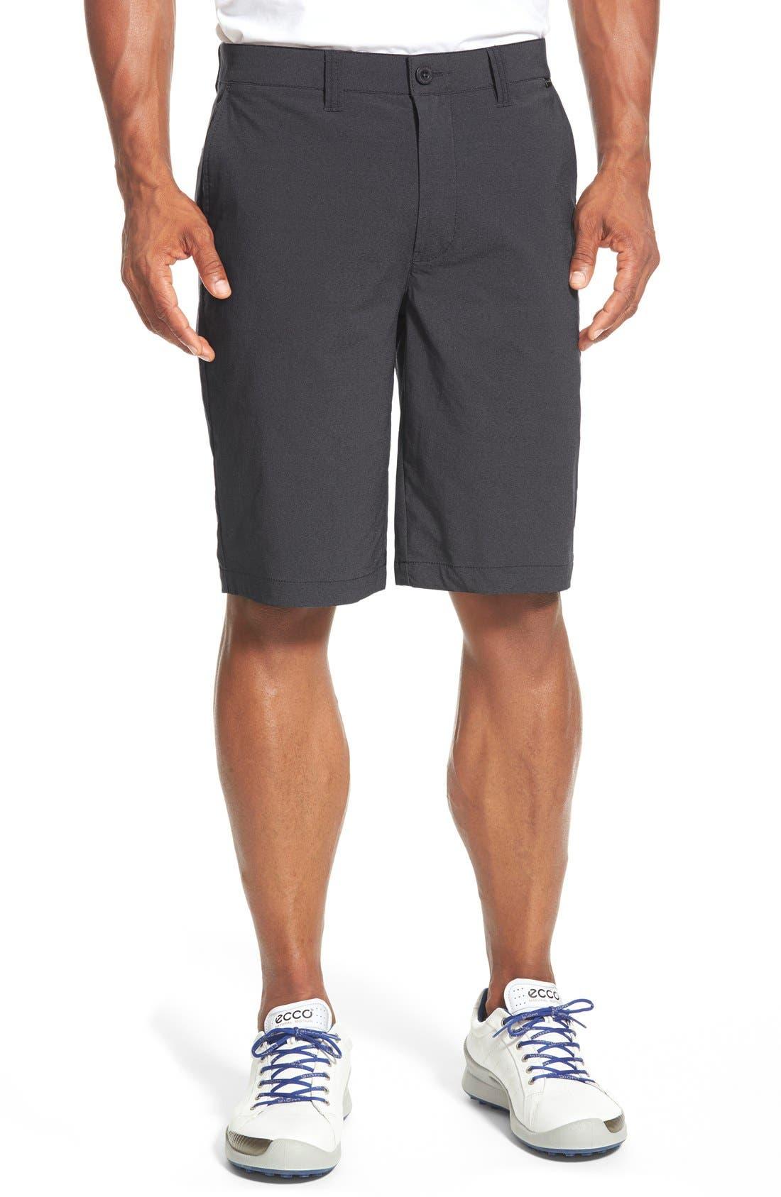 'Hefner' Stretch Golf Shorts,                         Main,                         color, BLACK