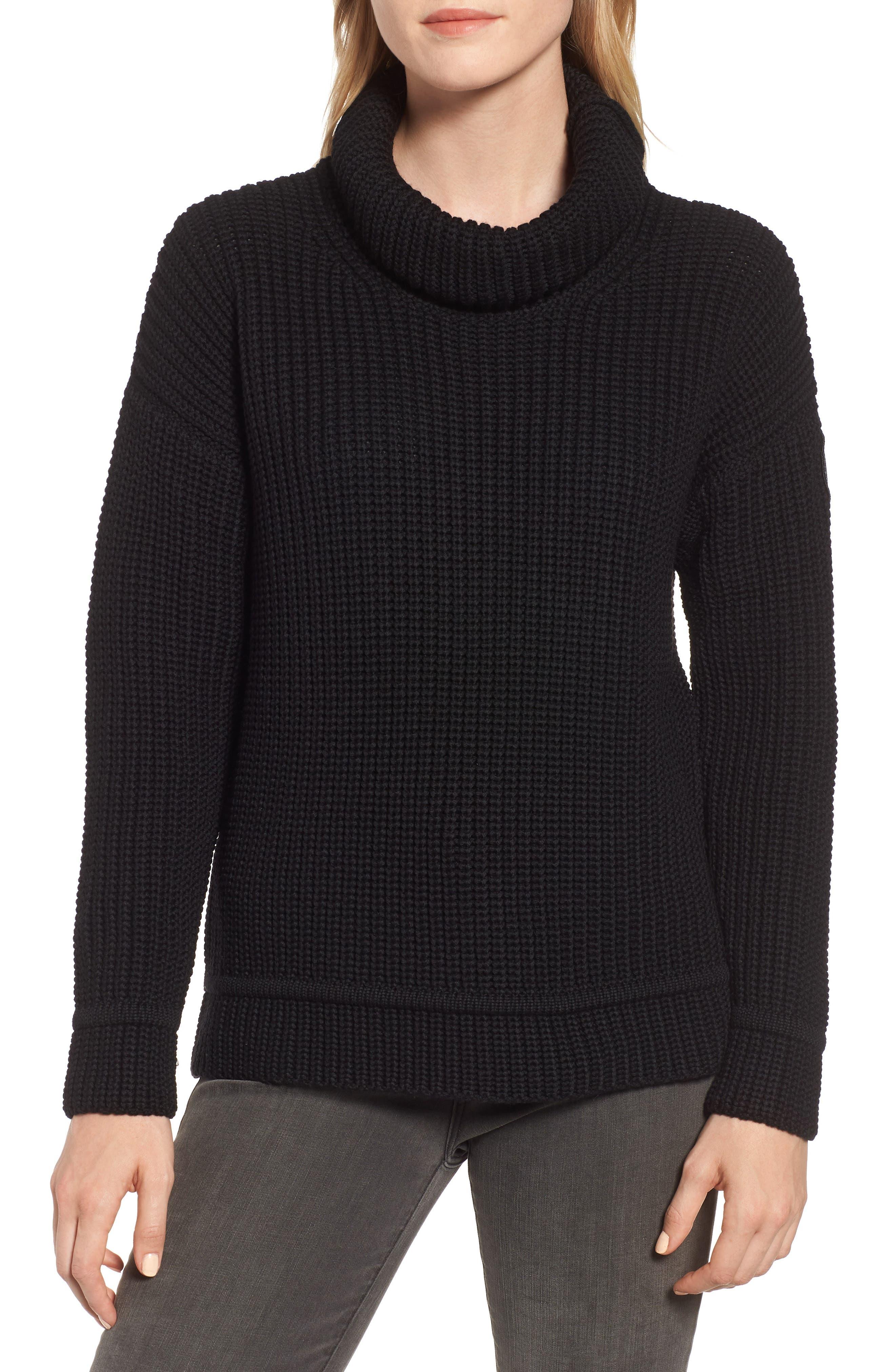 Williston Wool Turtleneck Sweater in Black