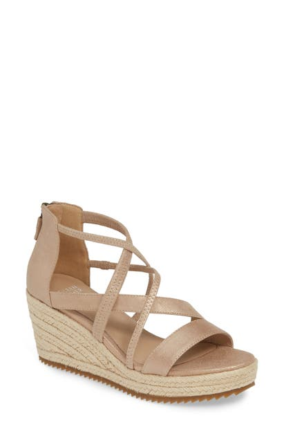 Eileen Fisher Sandals WANDA CROSS STRAP WEDGE SANDAL