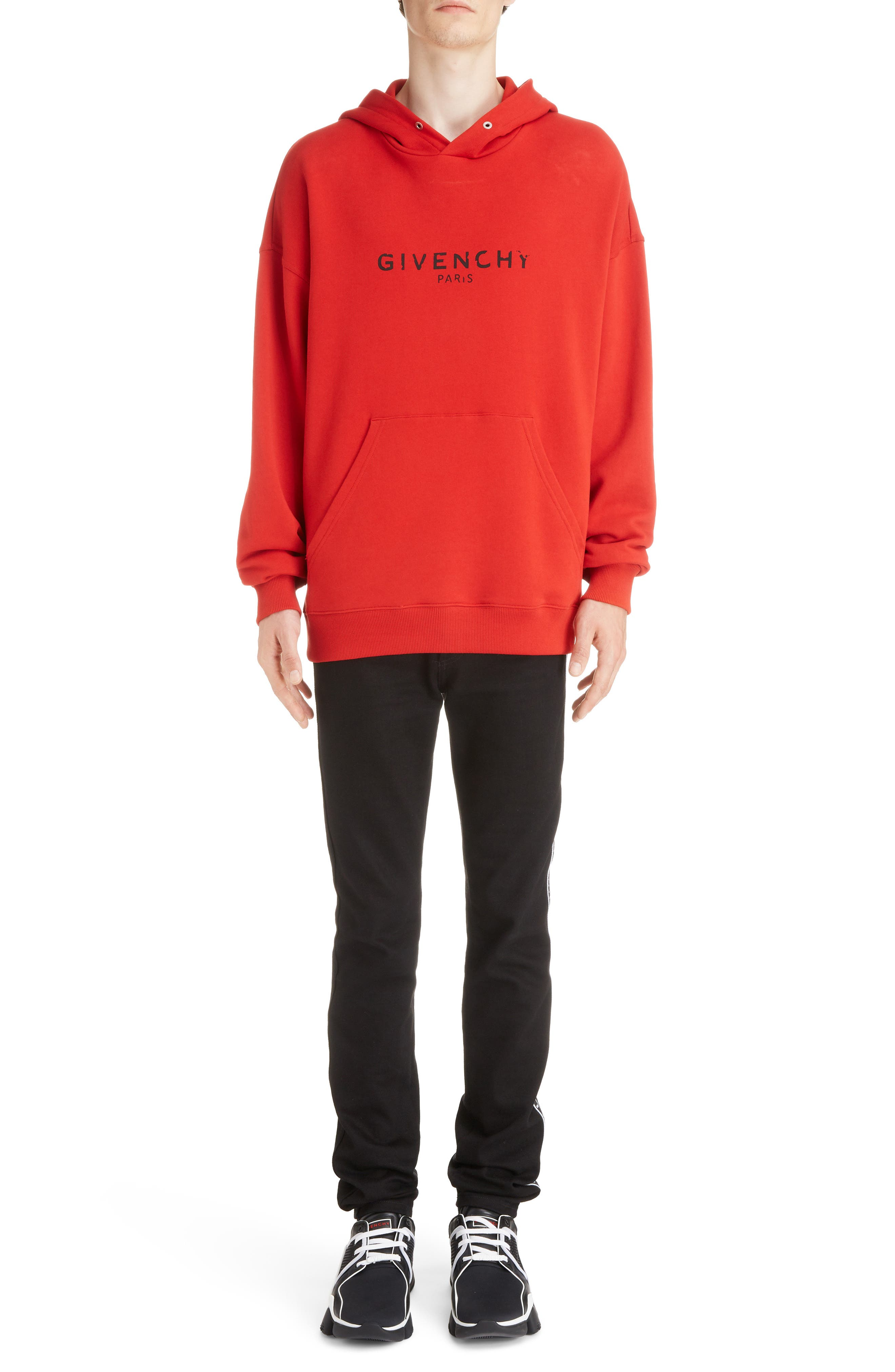 Logo Hoodie,                             Alternate thumbnail 6, color,                             BRIGHT RED
