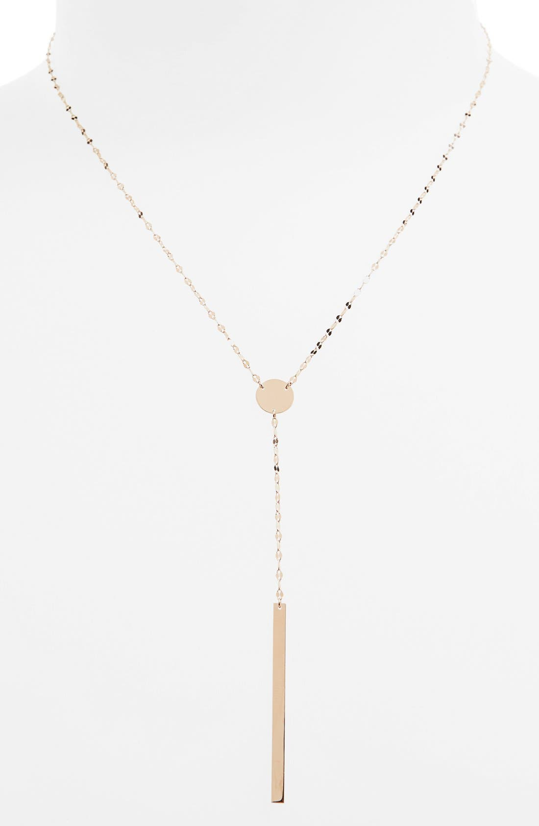 'Chime' Y-Necklace,                         Main,                         color, ROSE GOLD