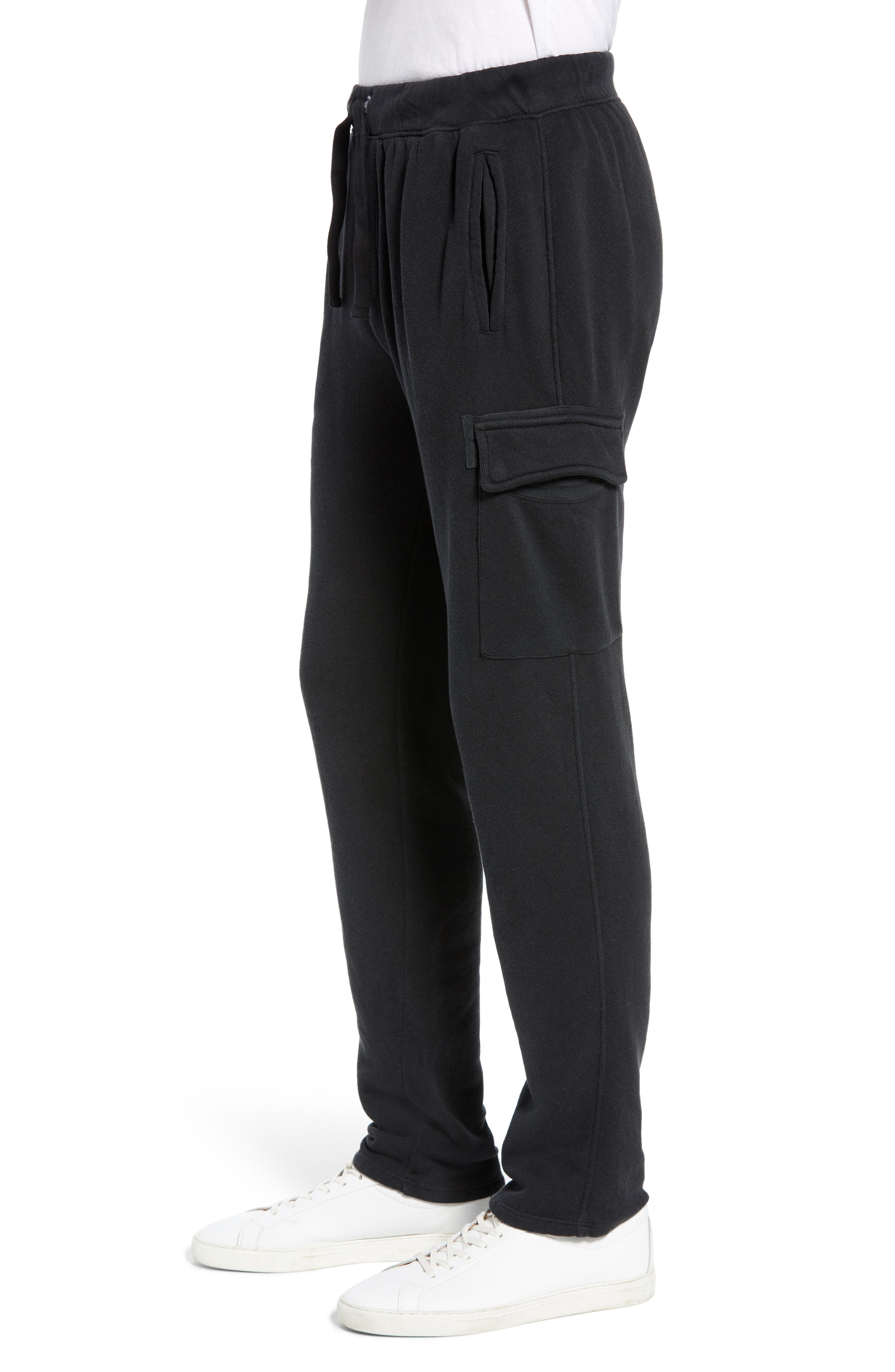Slim Fit Sweatpants,                             Alternate thumbnail 3, color,                             CHARCOAL