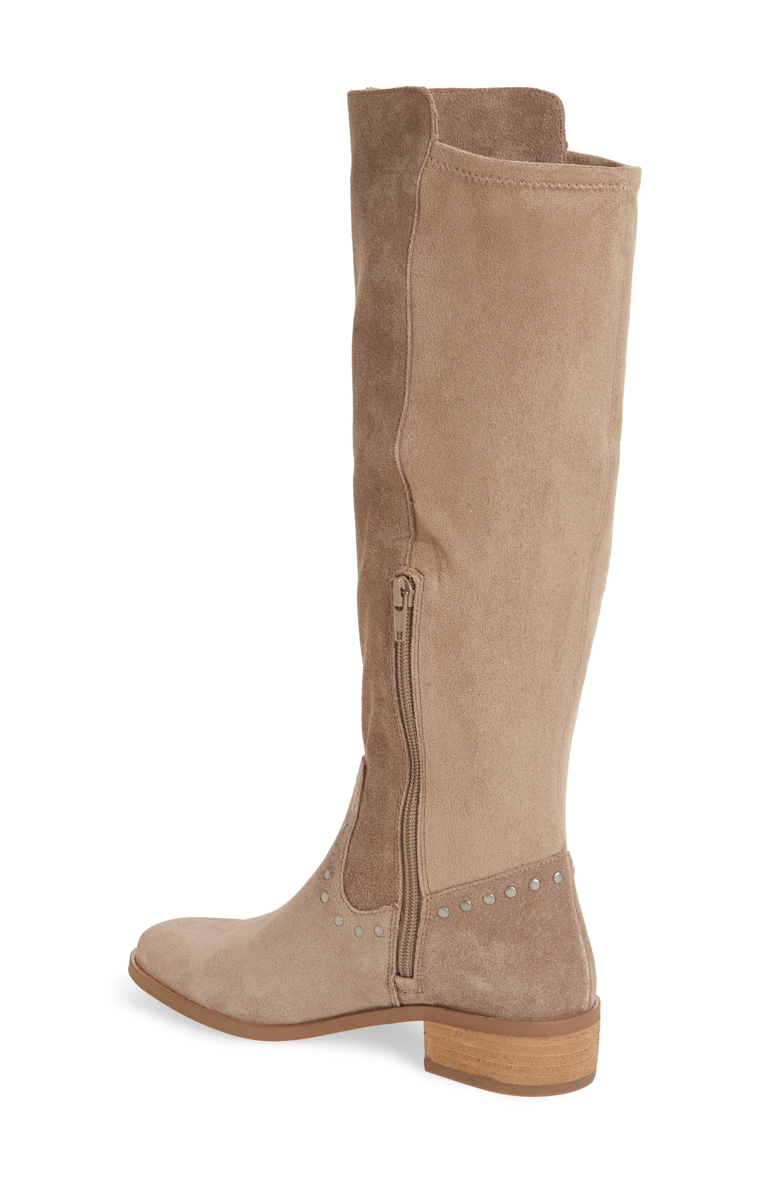 Calvenia Knee High Boot,                             Alternate thumbnail 2, color,                             FALL TAUPE SUEDE