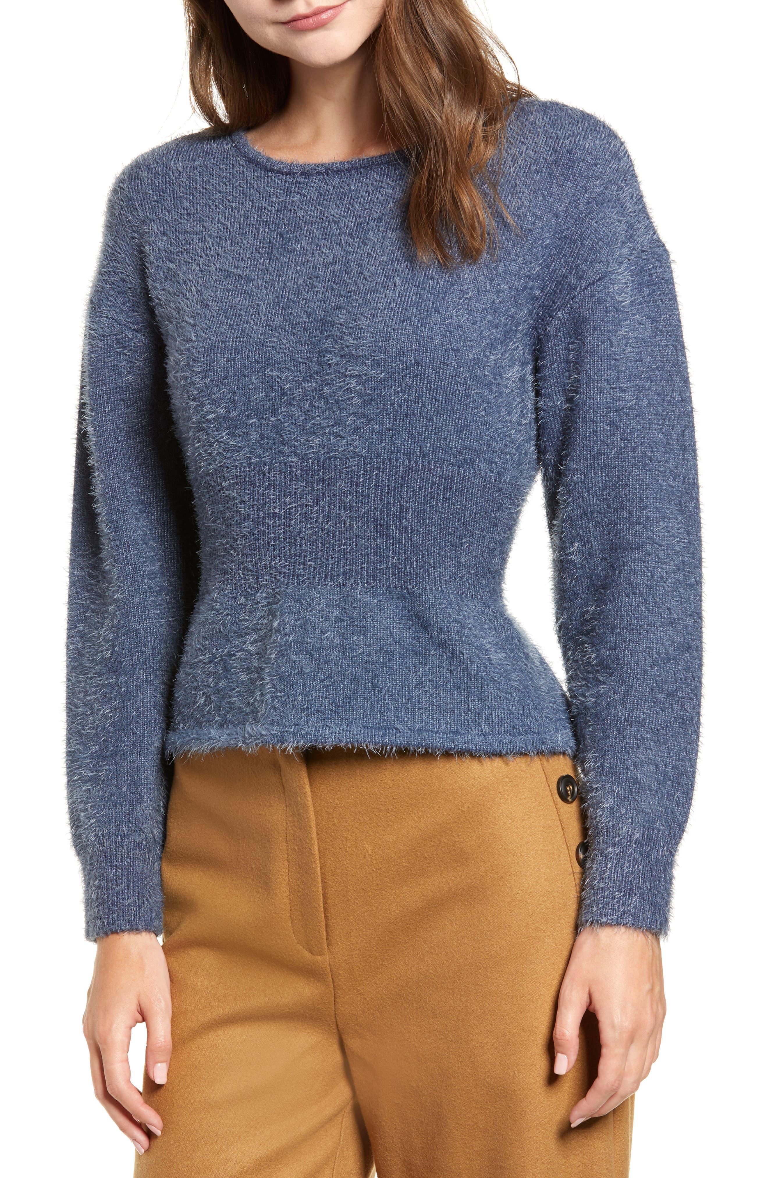 Chriselle Lim Erin Eyelash Sweater,                         Main,                         color, 400