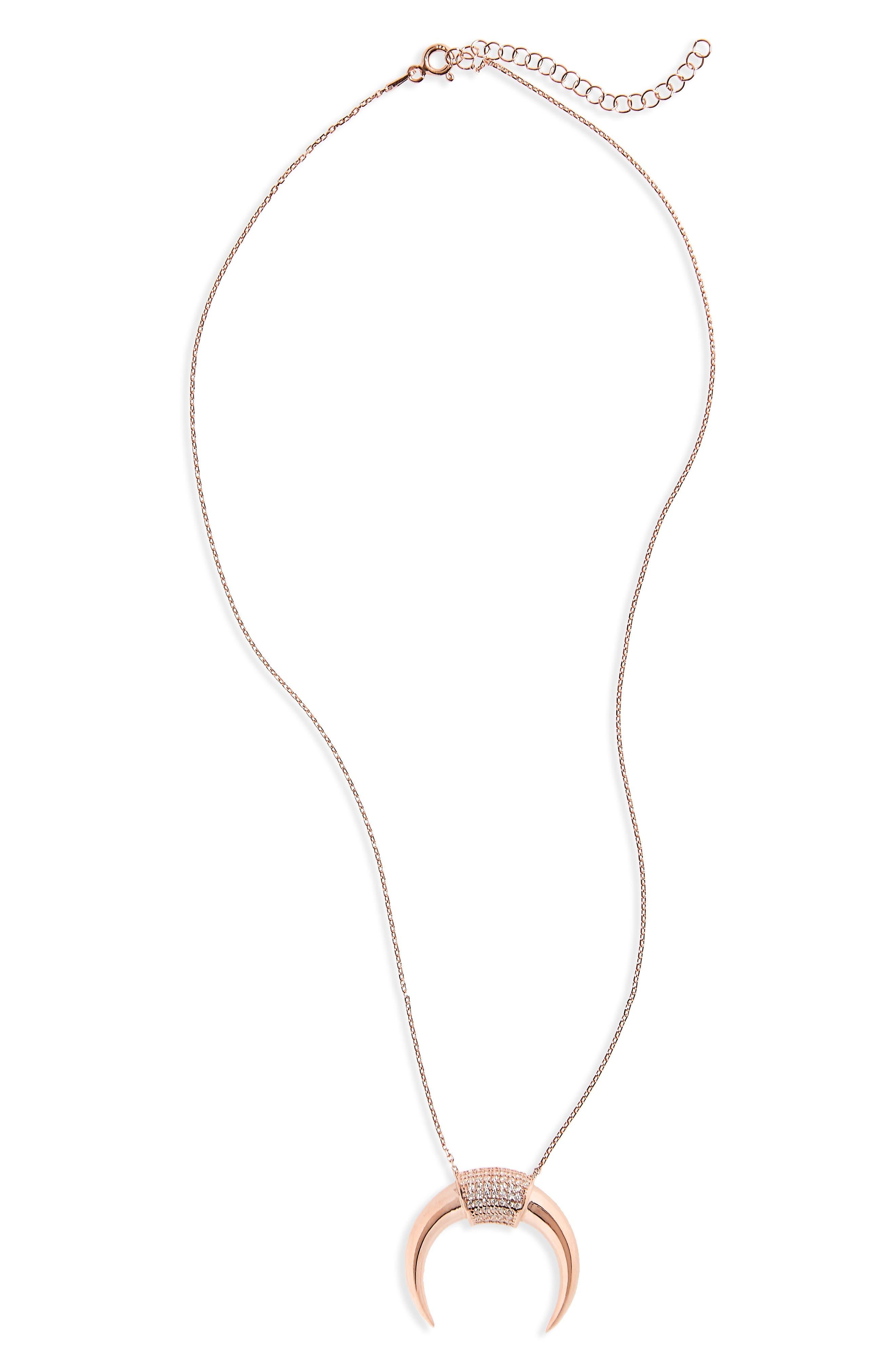 Crescent Pendant Necklace,                             Main thumbnail 1, color,                             710
