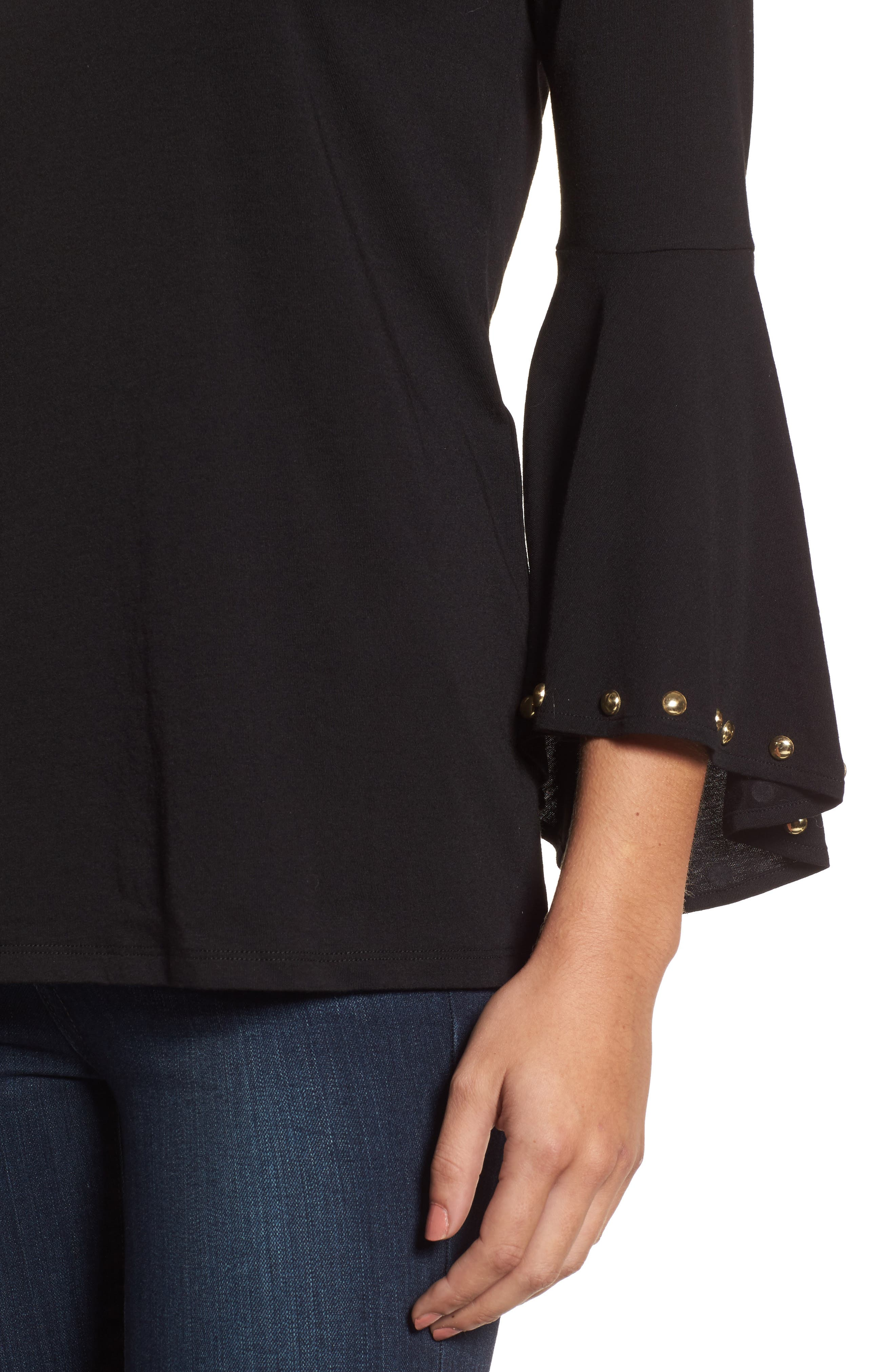 High/Low Bell Sleeve Top,                             Alternate thumbnail 10, color,