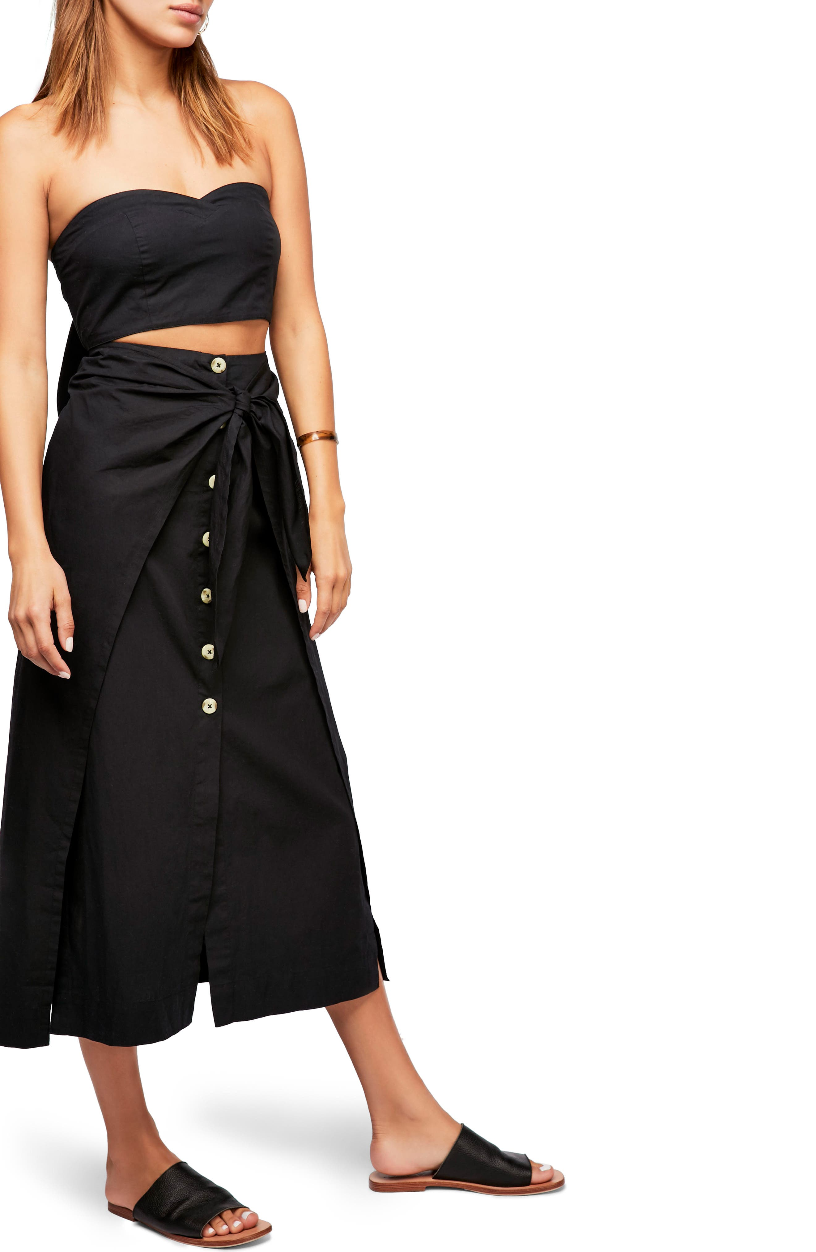 Endless Summer by Free People Sunny Sun Top & Skirt,                             Main thumbnail 1, color,                             001
