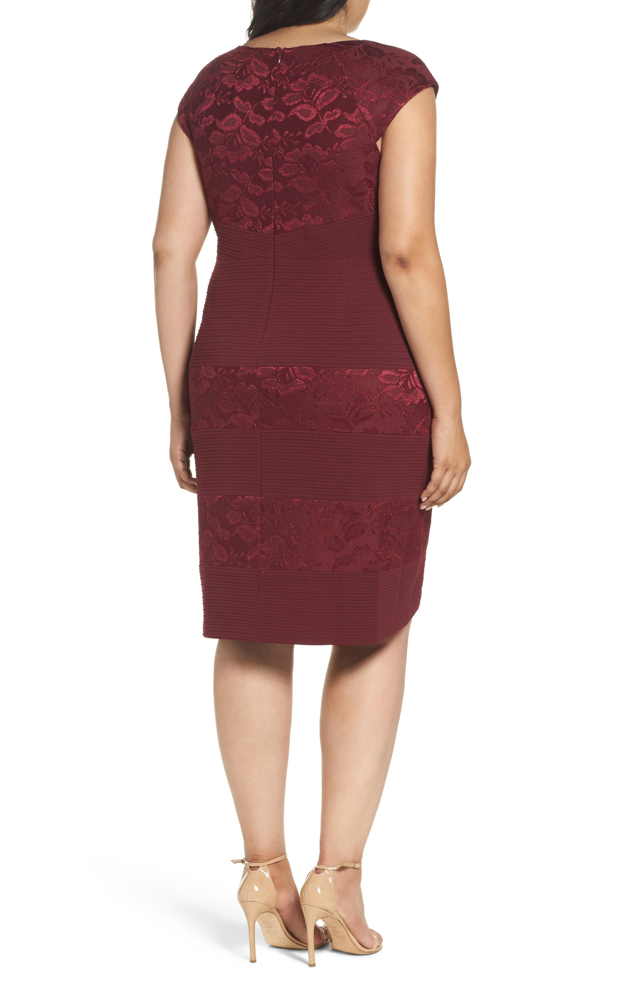 Cutout Neck Sheath Dress,                             Alternate thumbnail 2, color,                             603