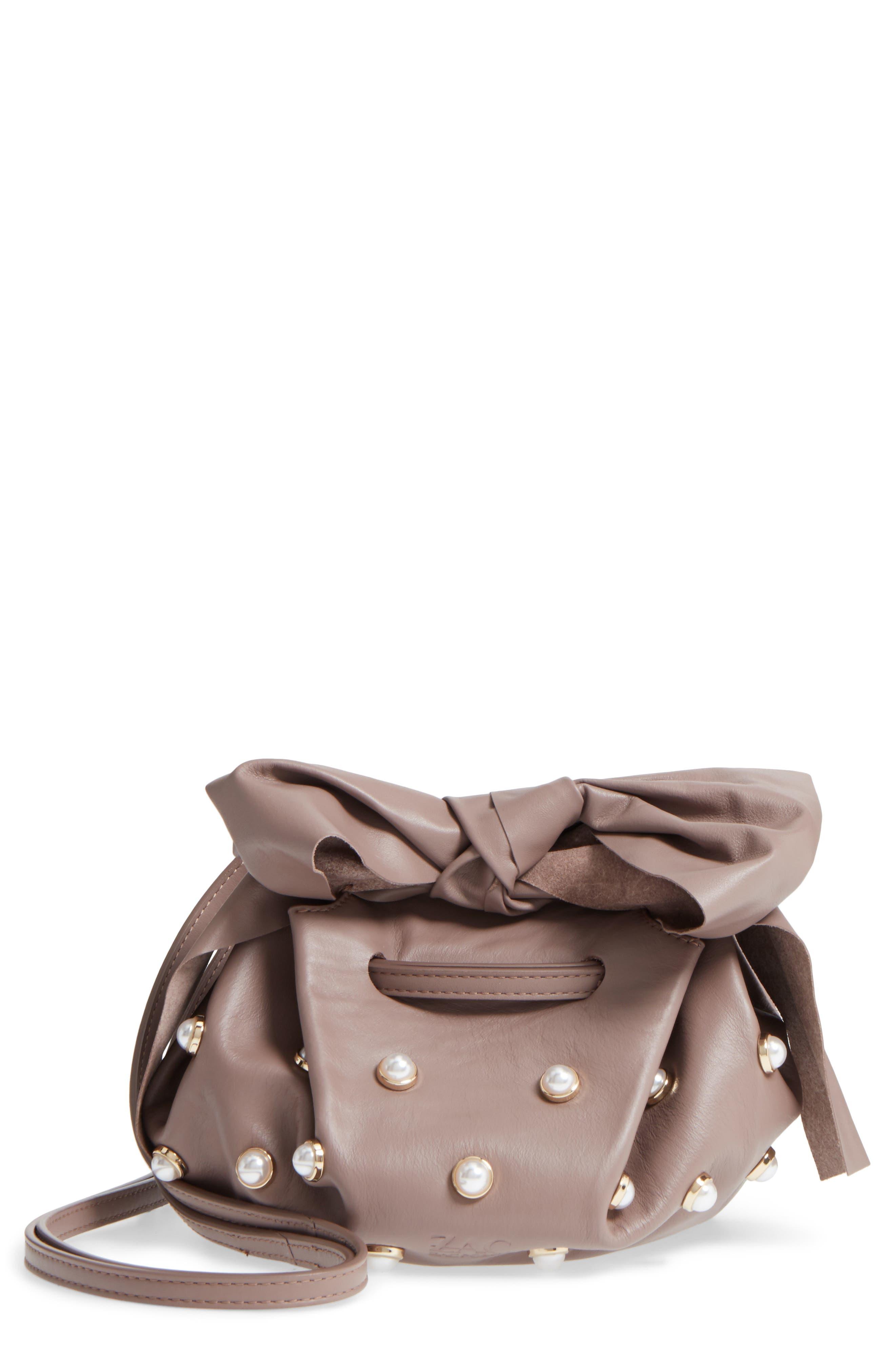 Soirée Imitation Pearl Lady Leather Crossbody Bag,                         Main,                         color, 530