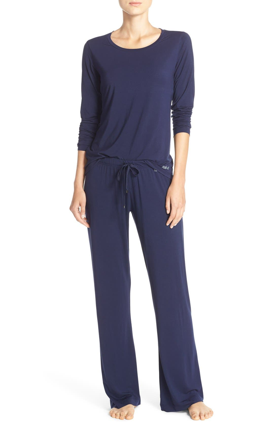 Long Sleeve Stretch Modal Top,                             Alternate thumbnail 6, color,                             411